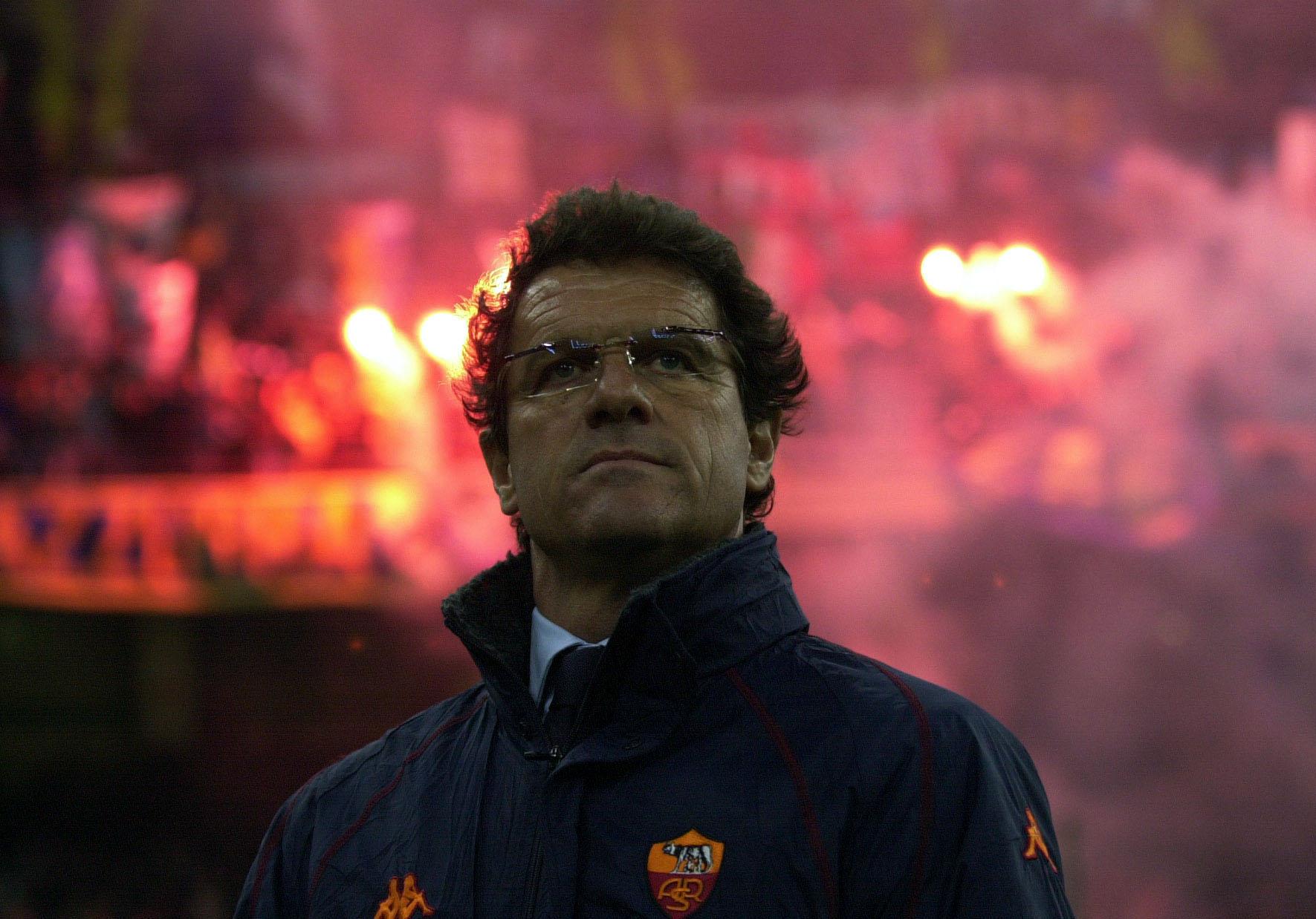 A portrait of Roma coach Fabio Capello