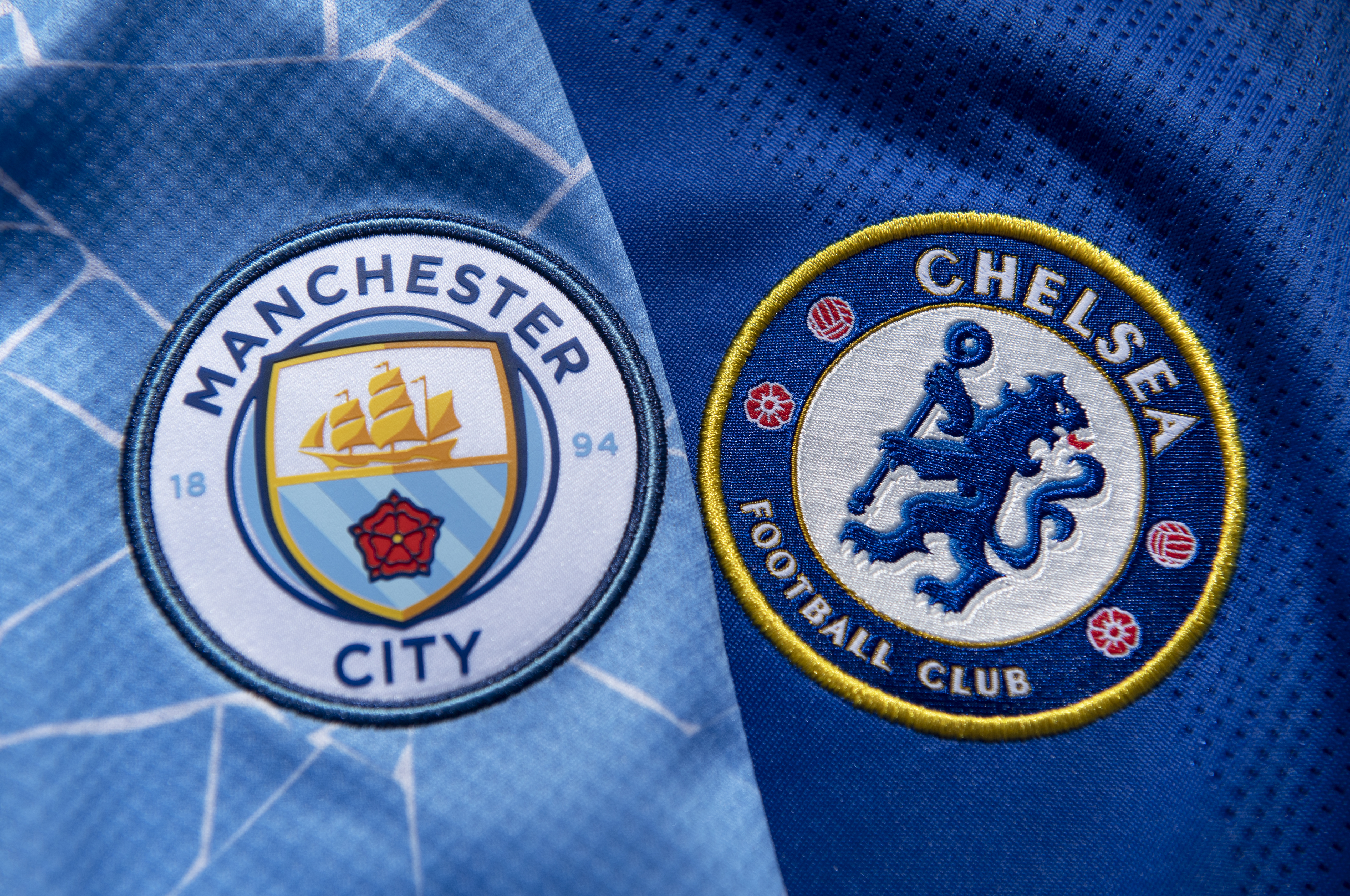 The Chelsea and Manchester City Home Shirts