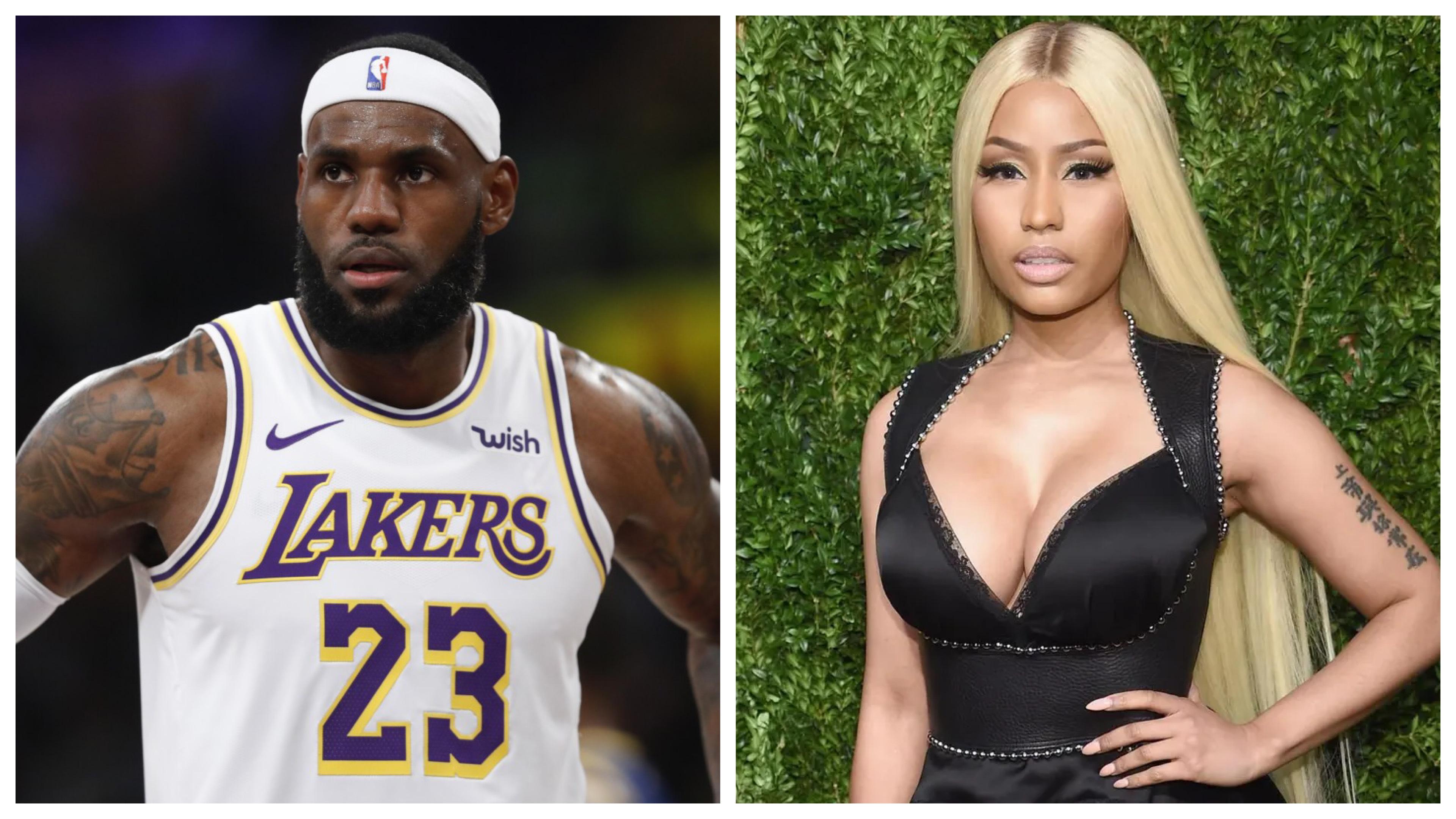 LeBron James and Nicki Minaj