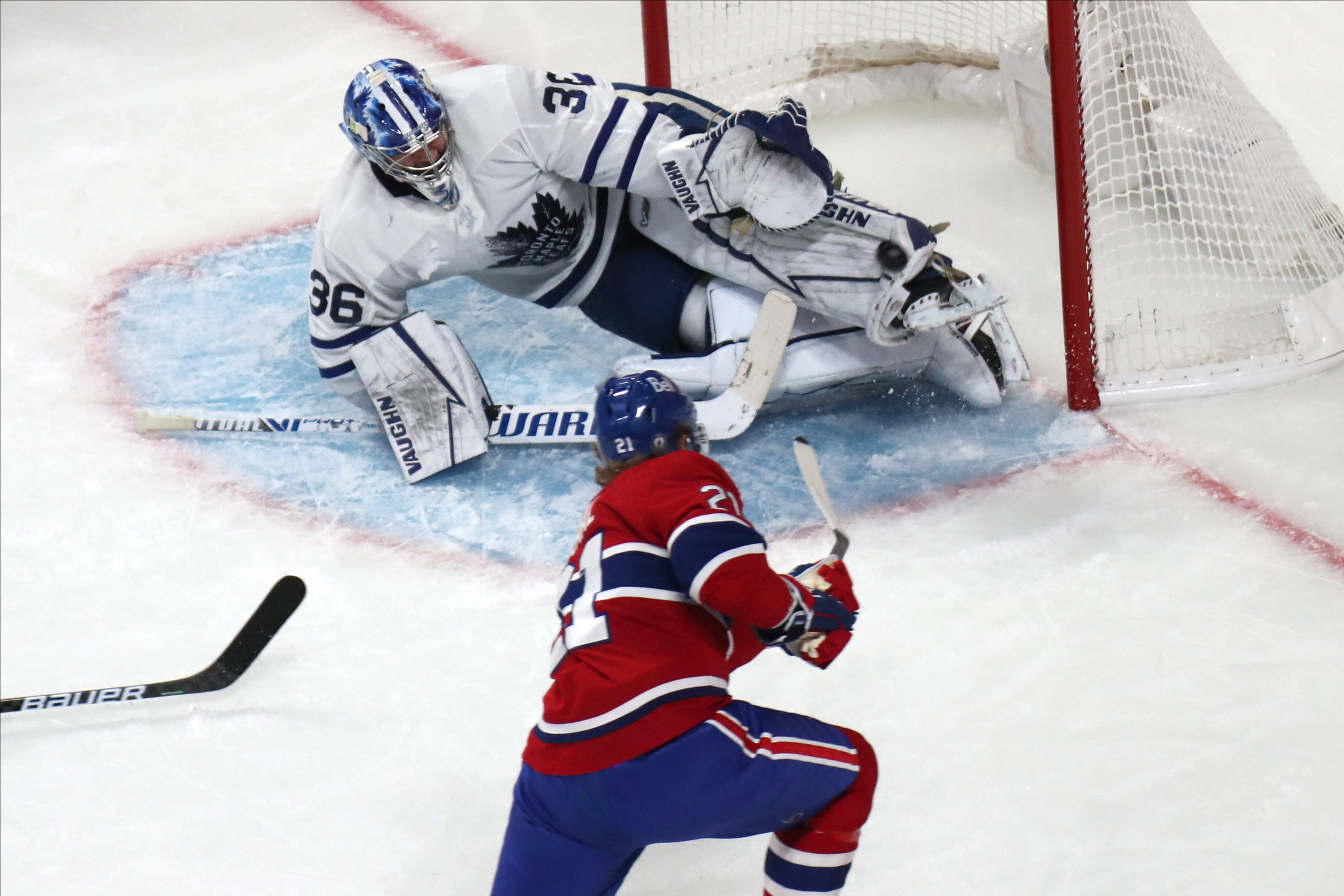 NHL: Stanley Cup Playoffs-Toronto Maple Leafs at Montreal Canadiens