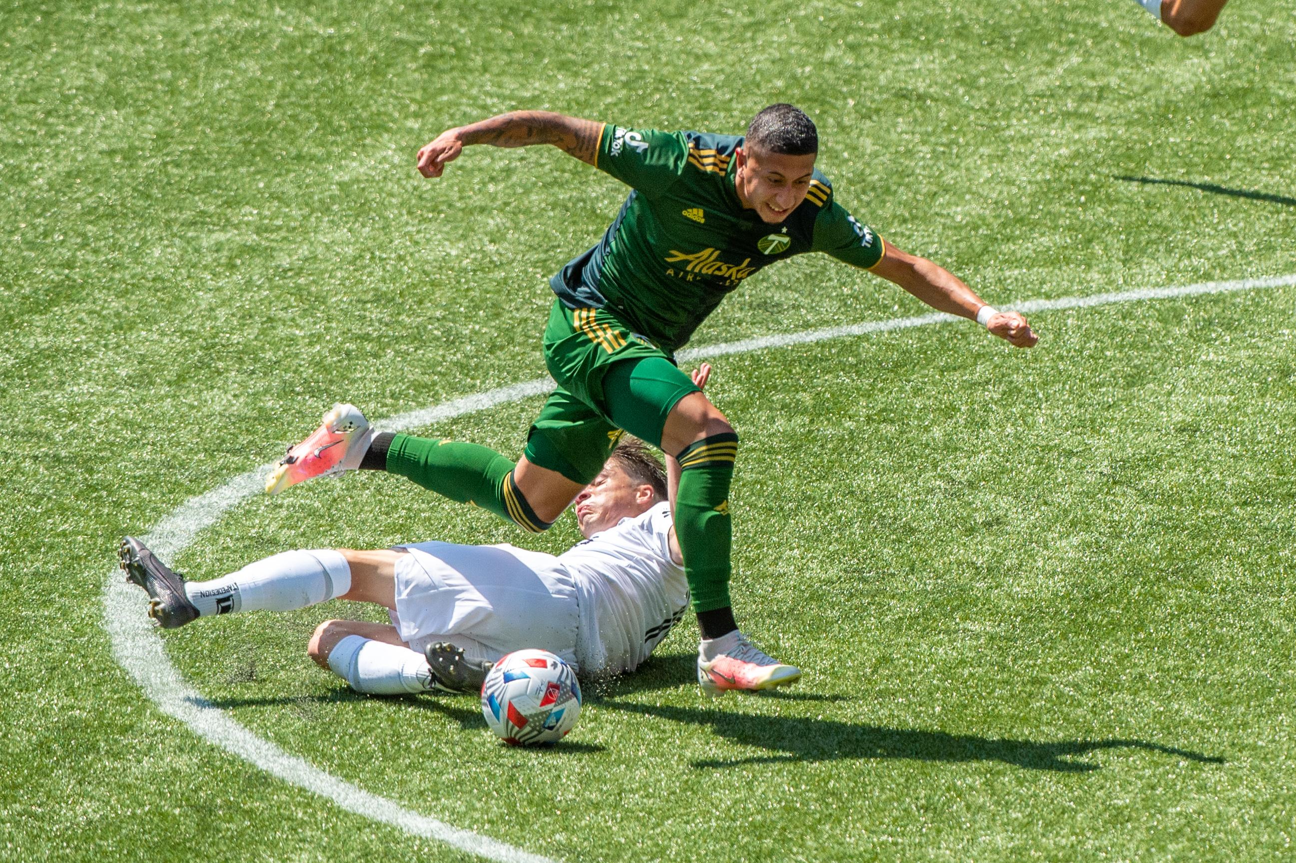 SOCCER: MAY 22 MLS - LA Galaxy at Portland Timbers
