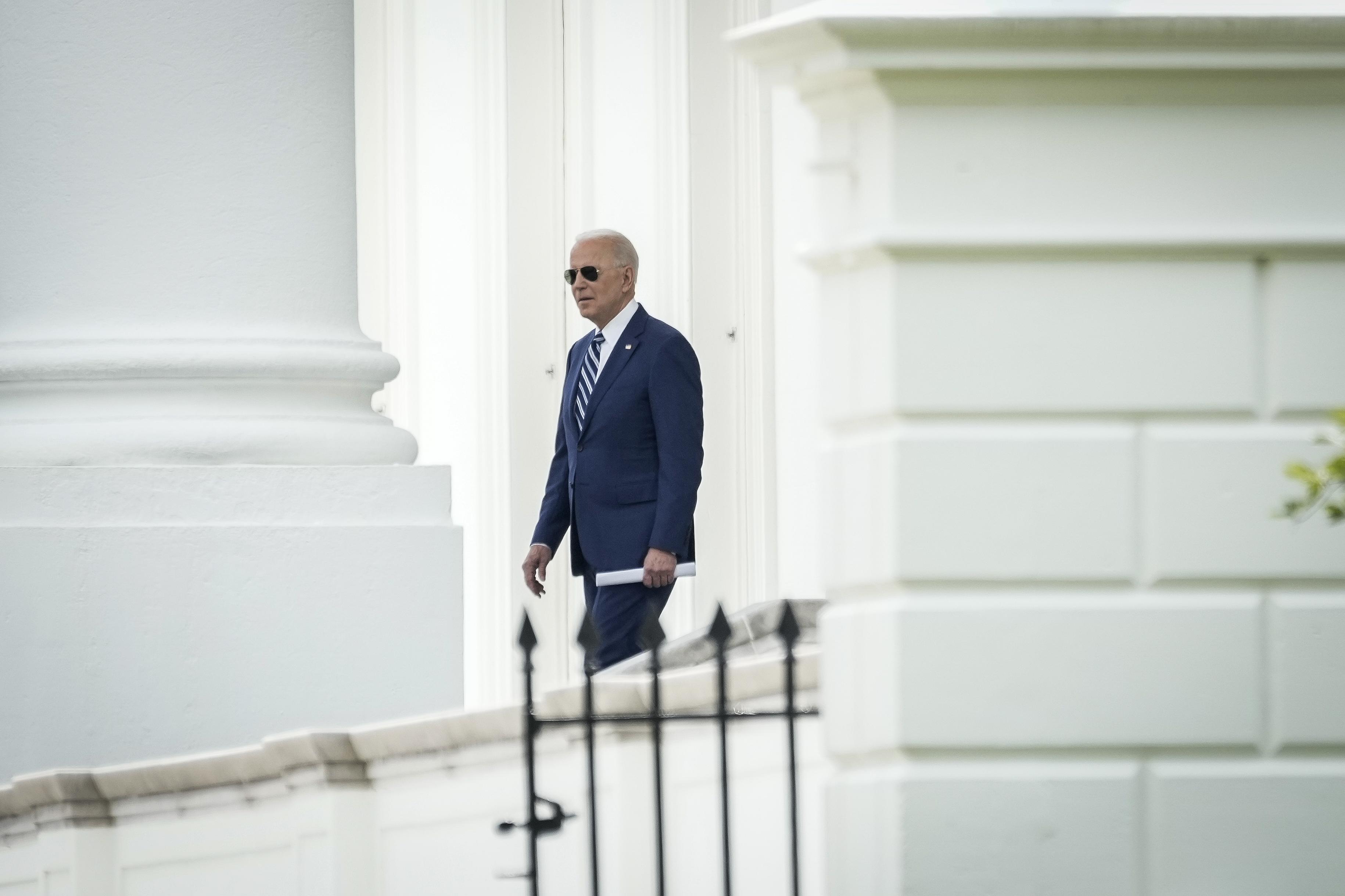 President Biden Departs The White House For Trip To Virginia