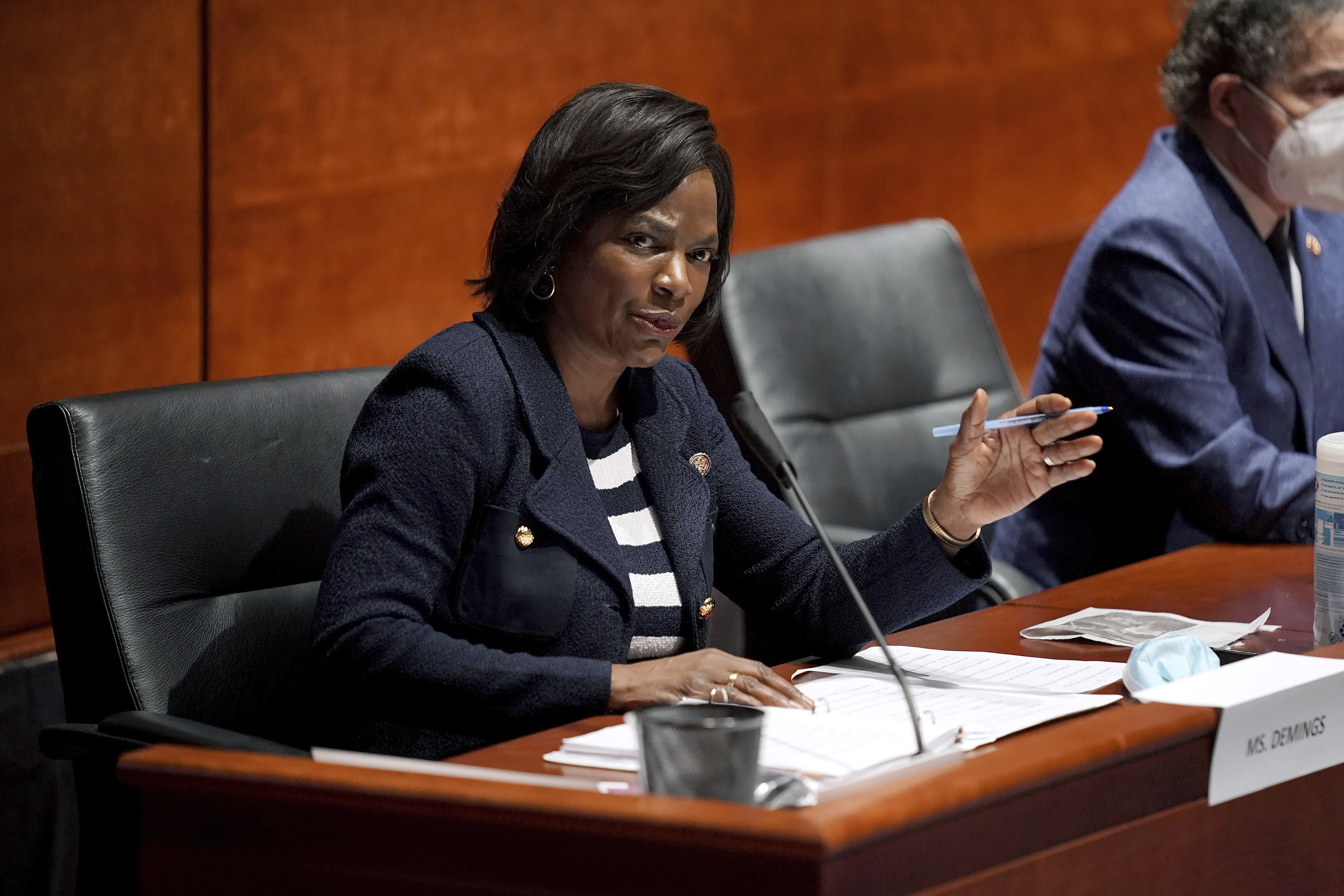 In this June 10, 2020, file photo Rep. Val Demings, D-Fla., asks questions during a House Judiciary Committee hearing on proposed changes to police practices and accountability on Capitol Hill in Washington. Demings is running for Republican Sen. Marco Rubio's Florida seat.