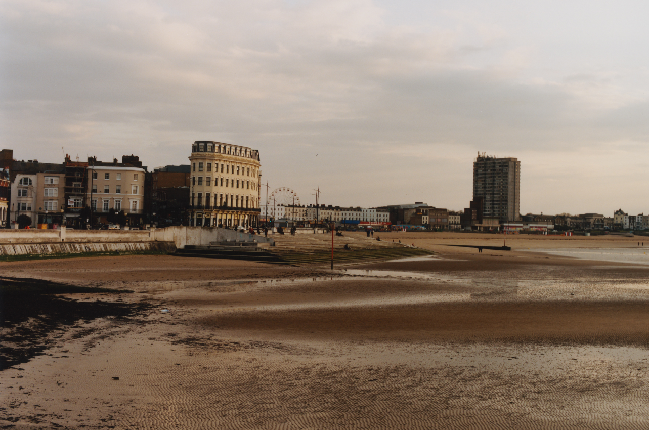 Sargasso will sit on Margate's Harbour Arm overlooking the bay and the old town. Here, photographed with the tide out