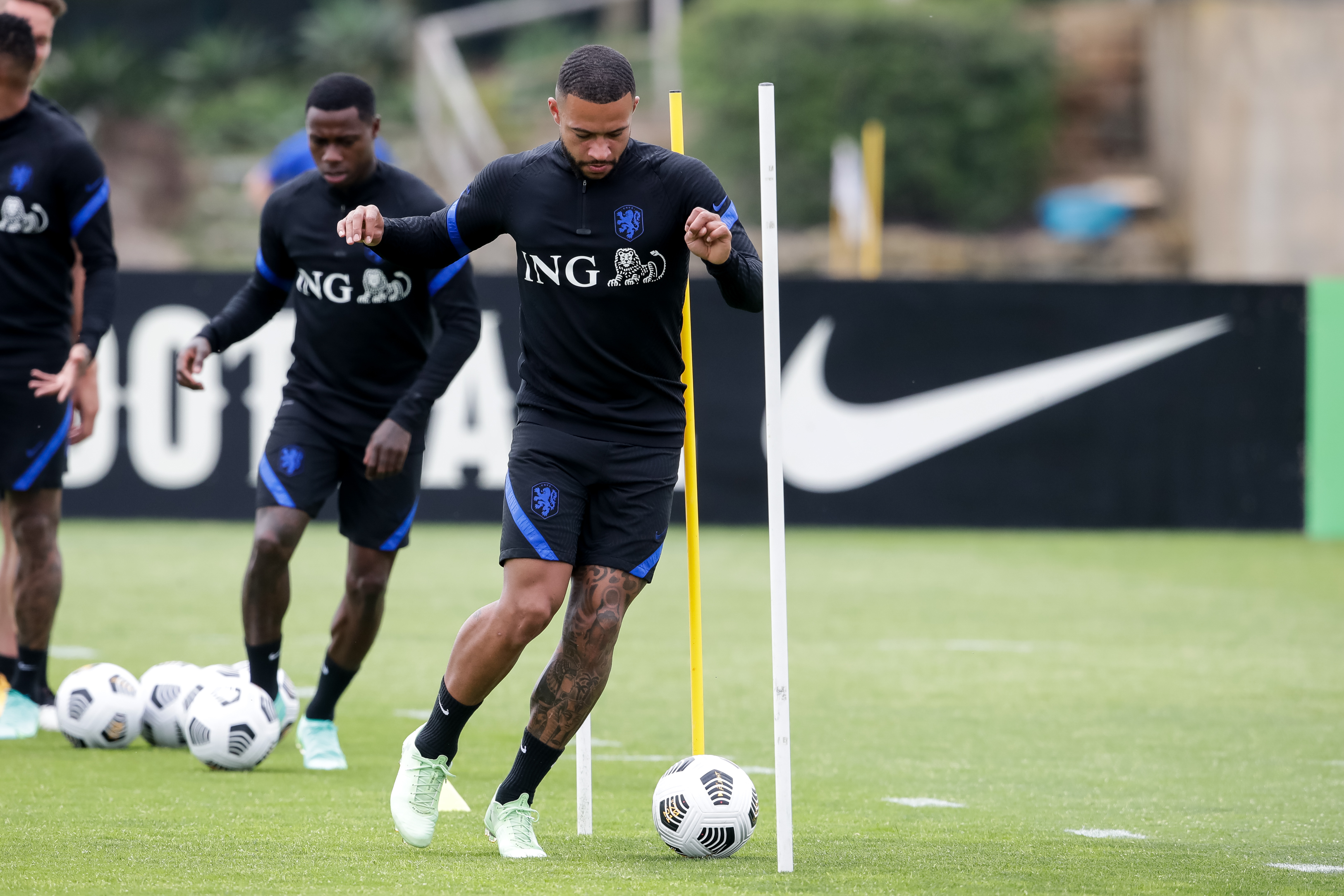 Memphis Depay of the Netherlands during a Training Session of the Netherlands at Cascade Resort on May 31, 2021 in Lagos, Portugal.