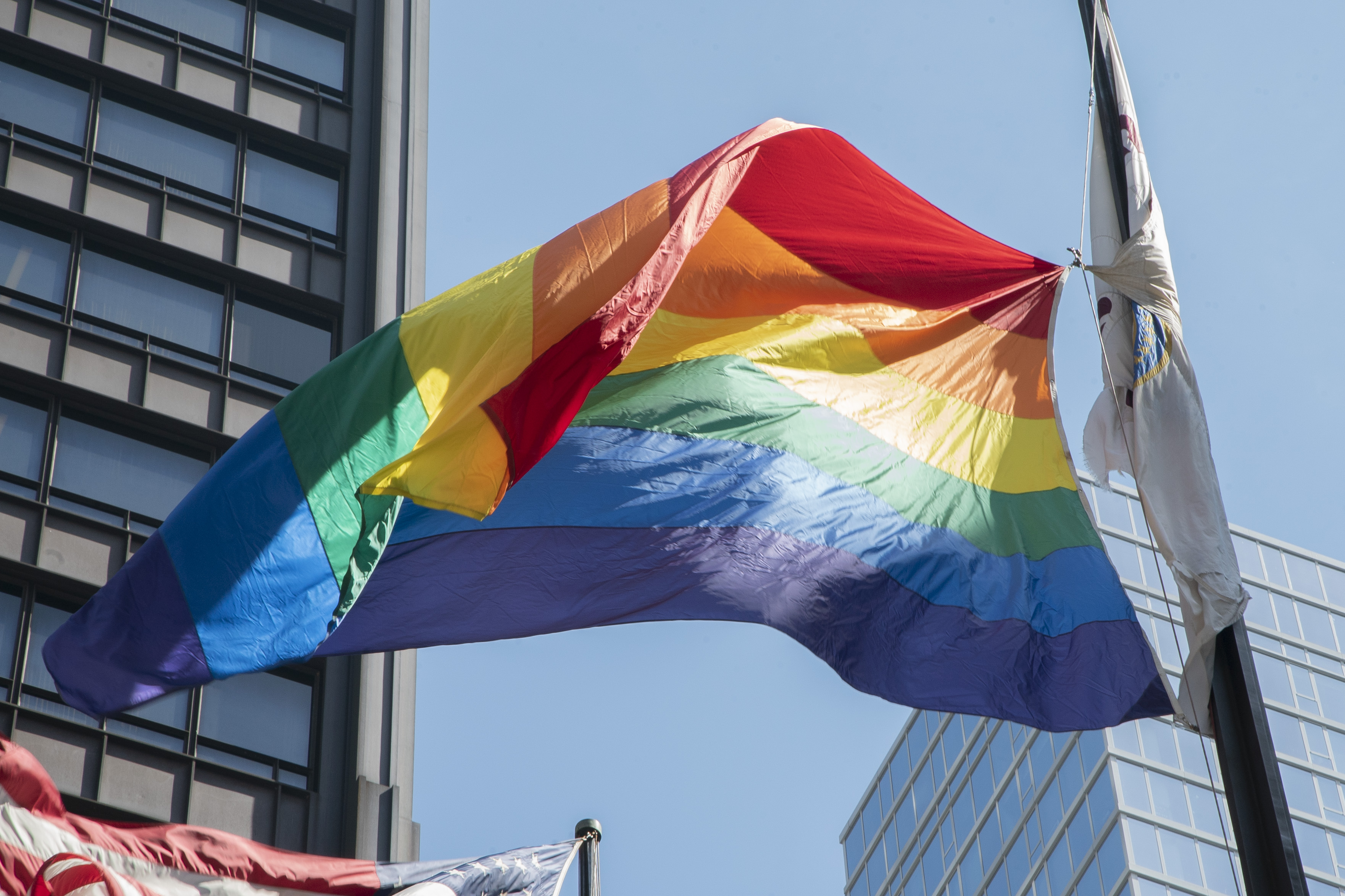 A rainbow flag will fly in Daley Plaza throughout June.