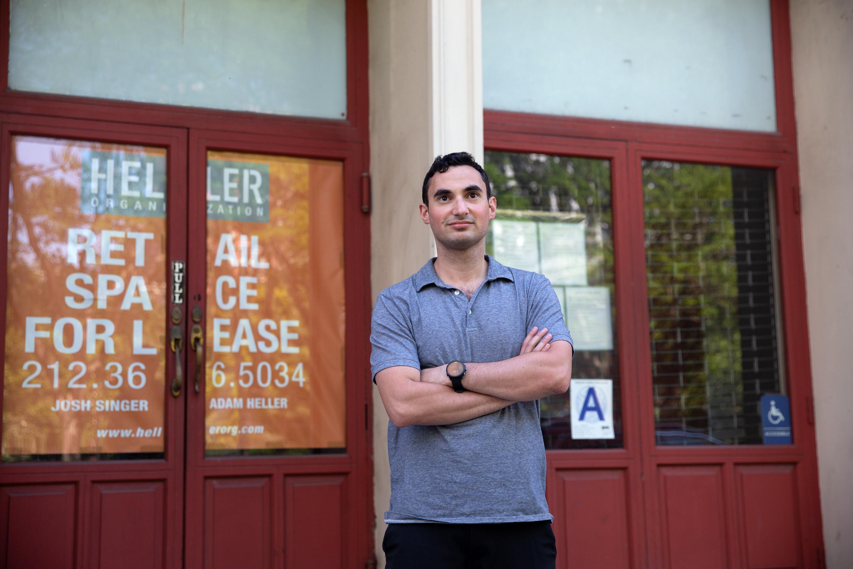Aaron Weber of Weber-Farhat Properties in one of their buildings in TriBeCa, May 27, 2021.