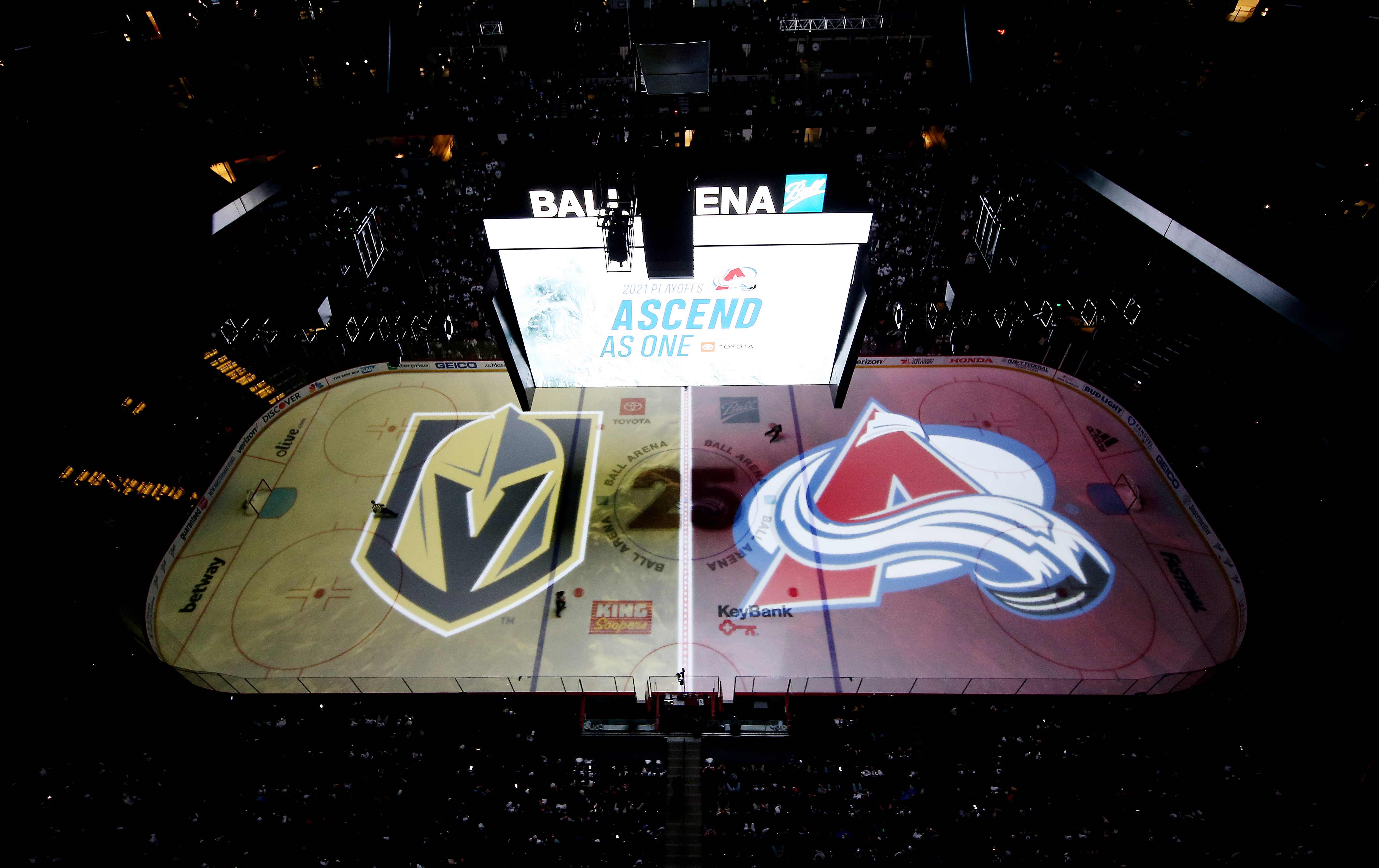 A general view of Ball Arena prior to the game between the Colorado Avalanche and the Vegas Golden Knights In Game One of the Second Round of the 2021 Stanley Cup Playoffs on May 30, 2021 in Denver, Colorado. The Avalanche defeated the Golden Knights 7-1.
