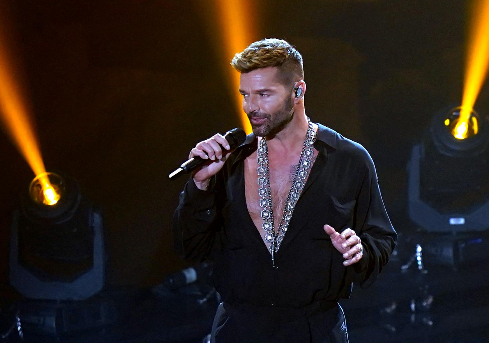 Ricky Martin performs at the 2020 Latin GRAMMY Awards in Miami, Florida.