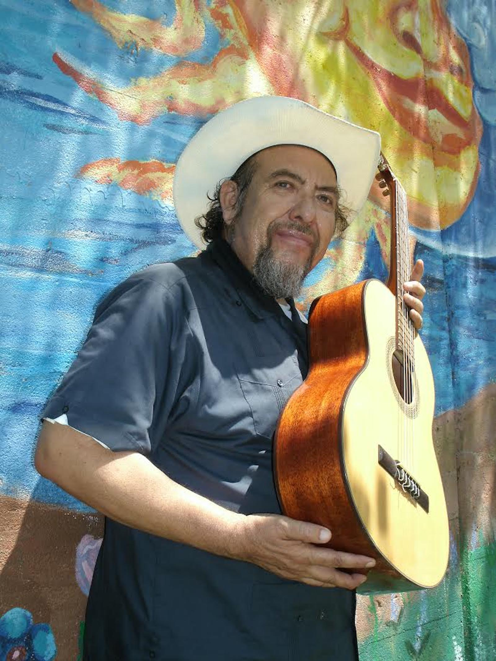 """Jesus """"Chuy"""" Negrete performed songs and stories of Chicano pride."""