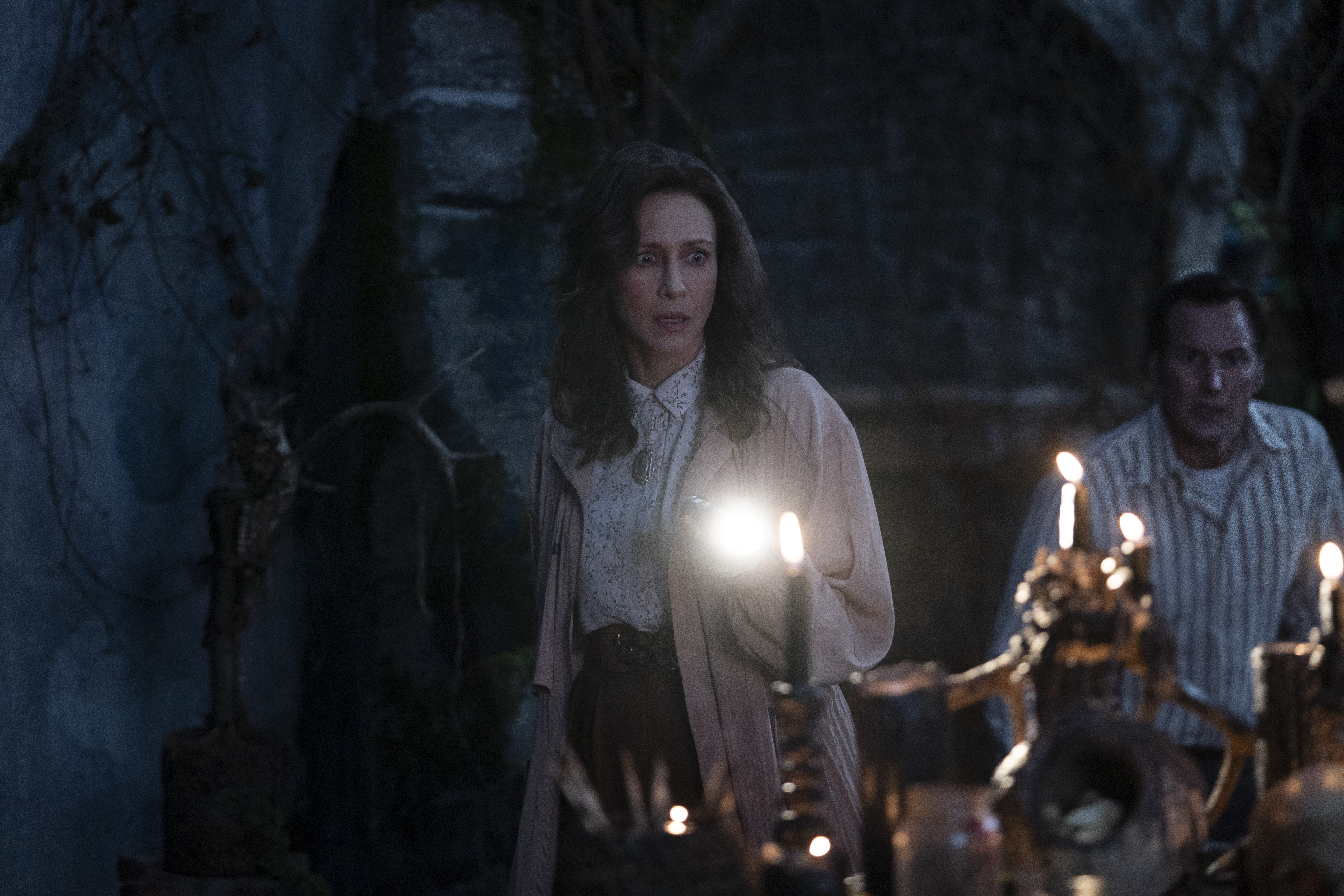 Vera Farmiga and Patrick Wilson as the Warrens in The Conjuring: The Devil Made Me Do It