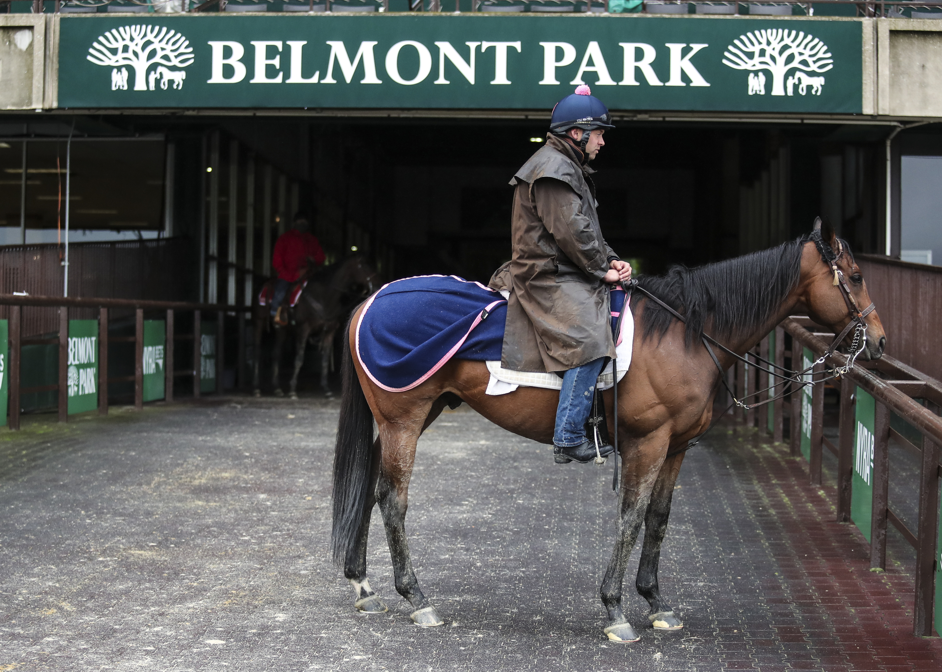 Sunday morning workouts for the 2021 Belmont Stakes at Belmont Park.