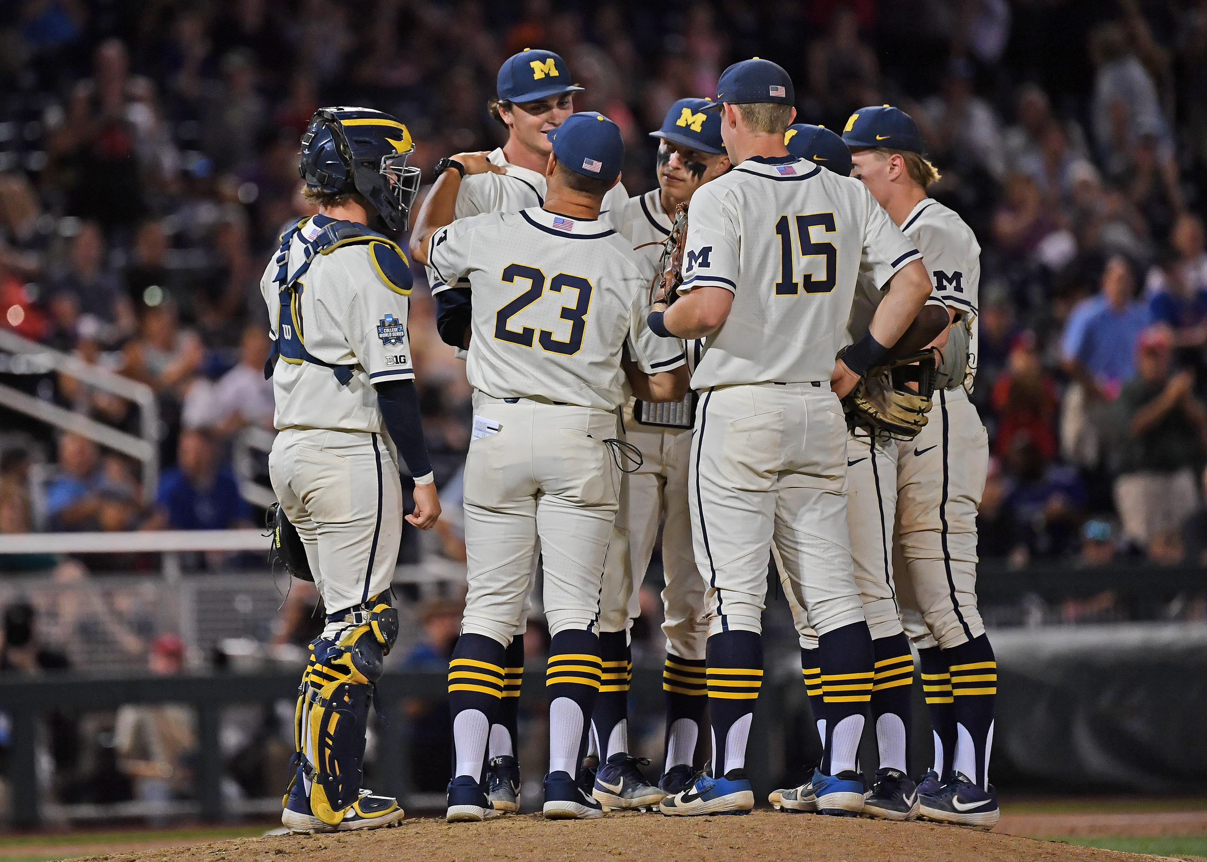 College World Series - Michigan v Vanderbilt - Game One