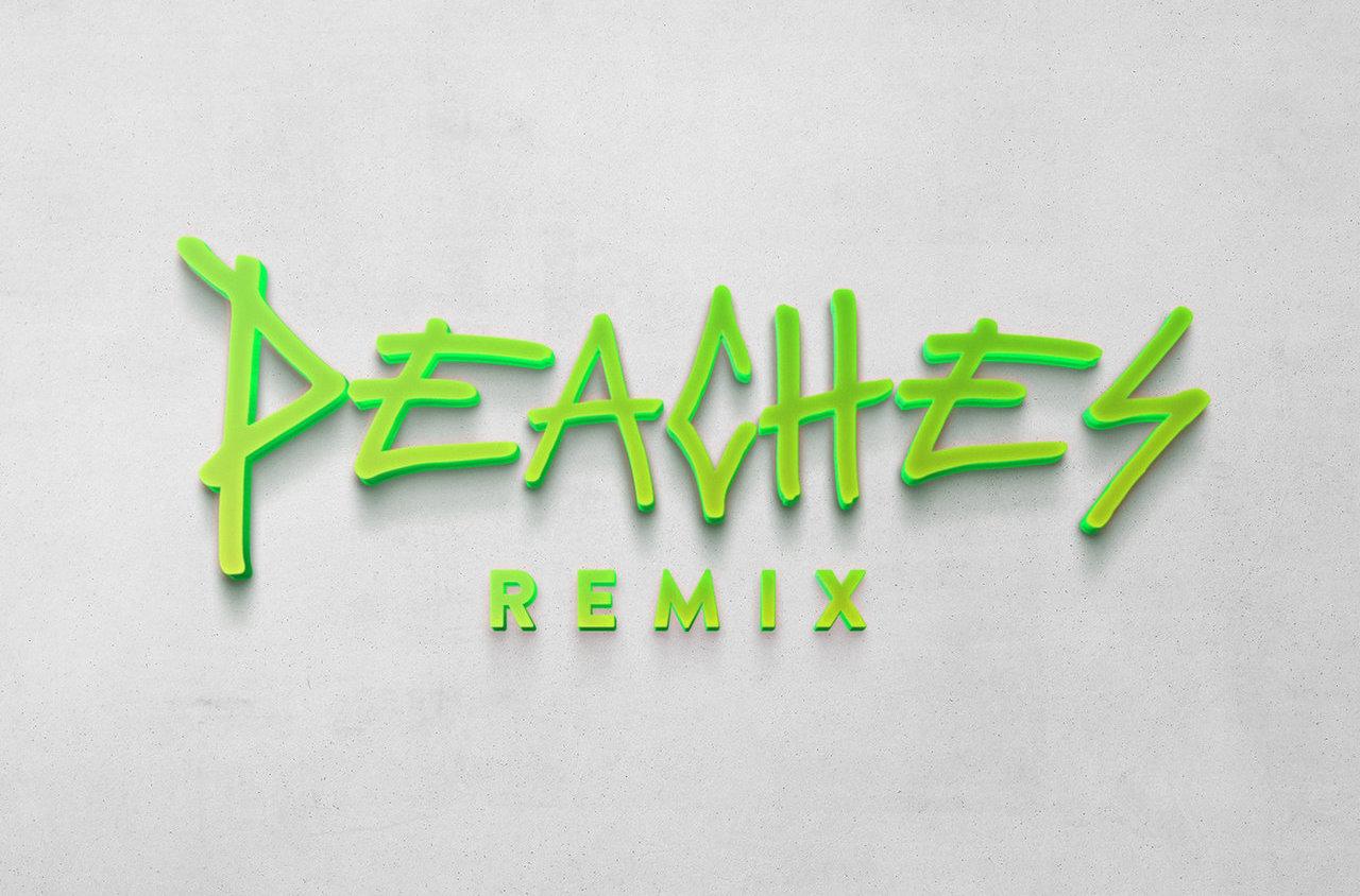 "Justin Bieber's ""Peaches (Remix)"" artwork"