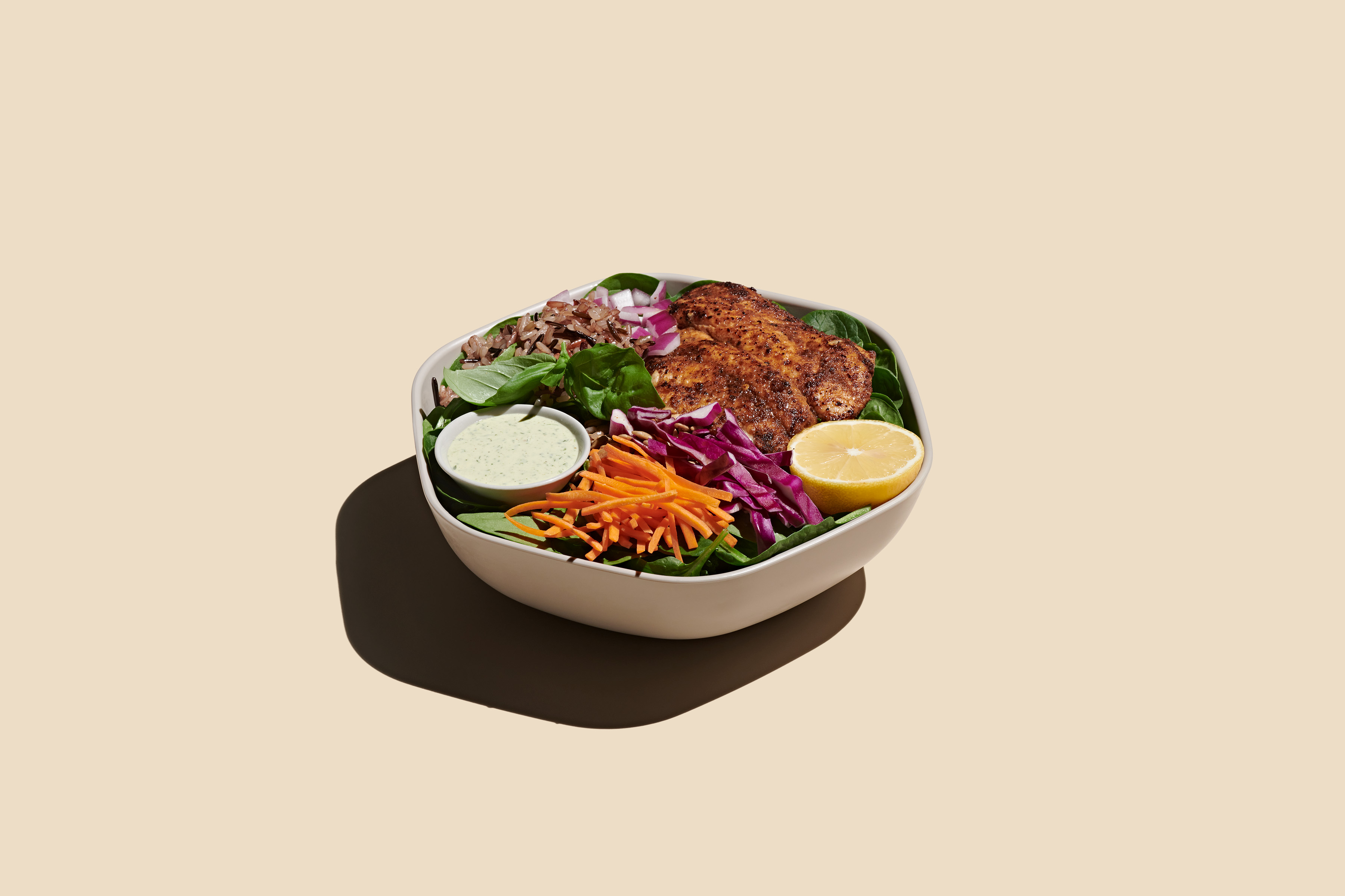 Blackened catfish bowl