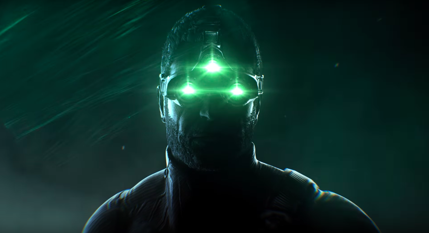 the signature three-eyed night-vision goggles worn by Splinter Cell hero Sam Fisher