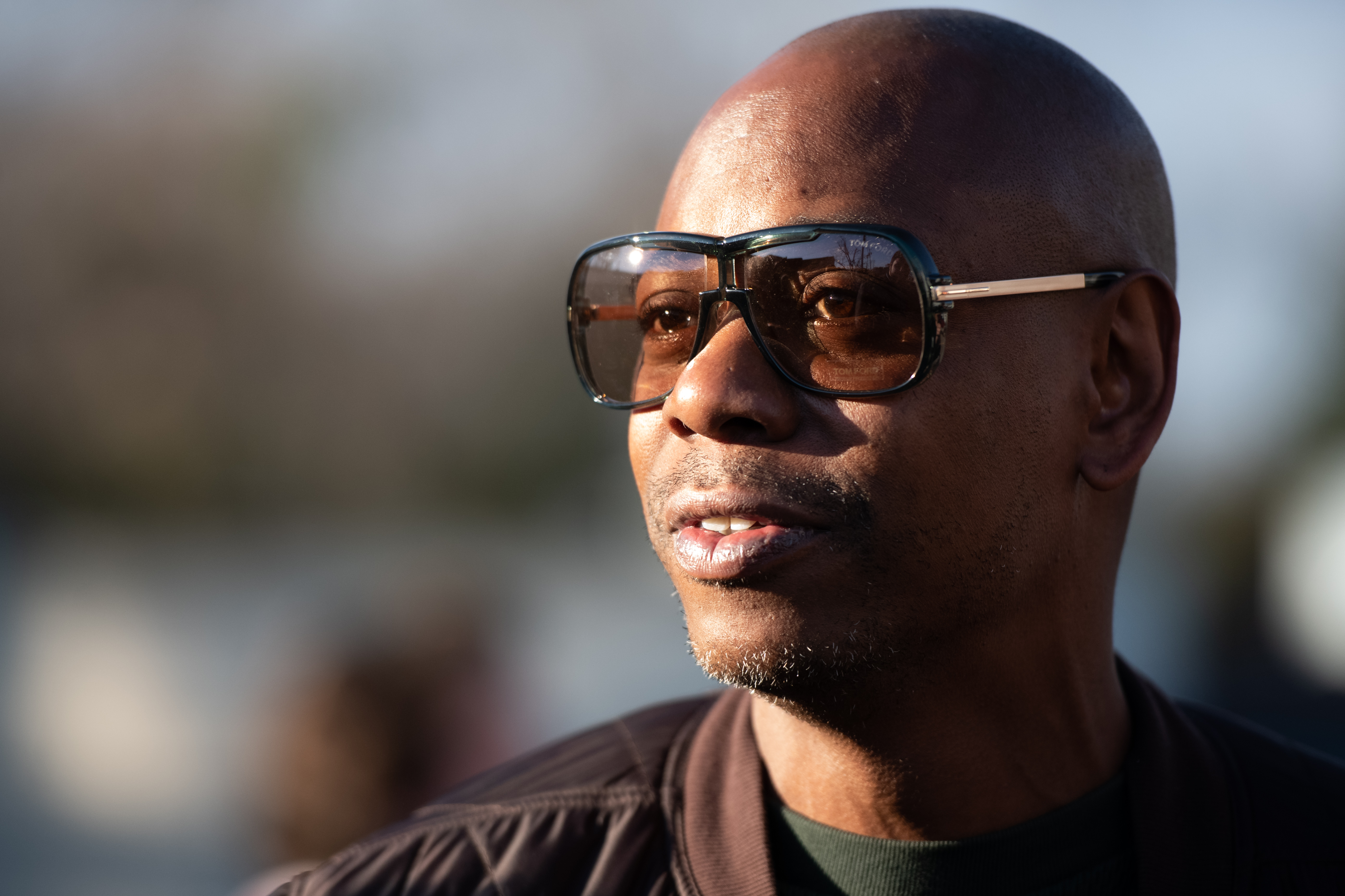 Comedian Dave Chappelle is photographed in 2020 in North Charleston, South Carolina.