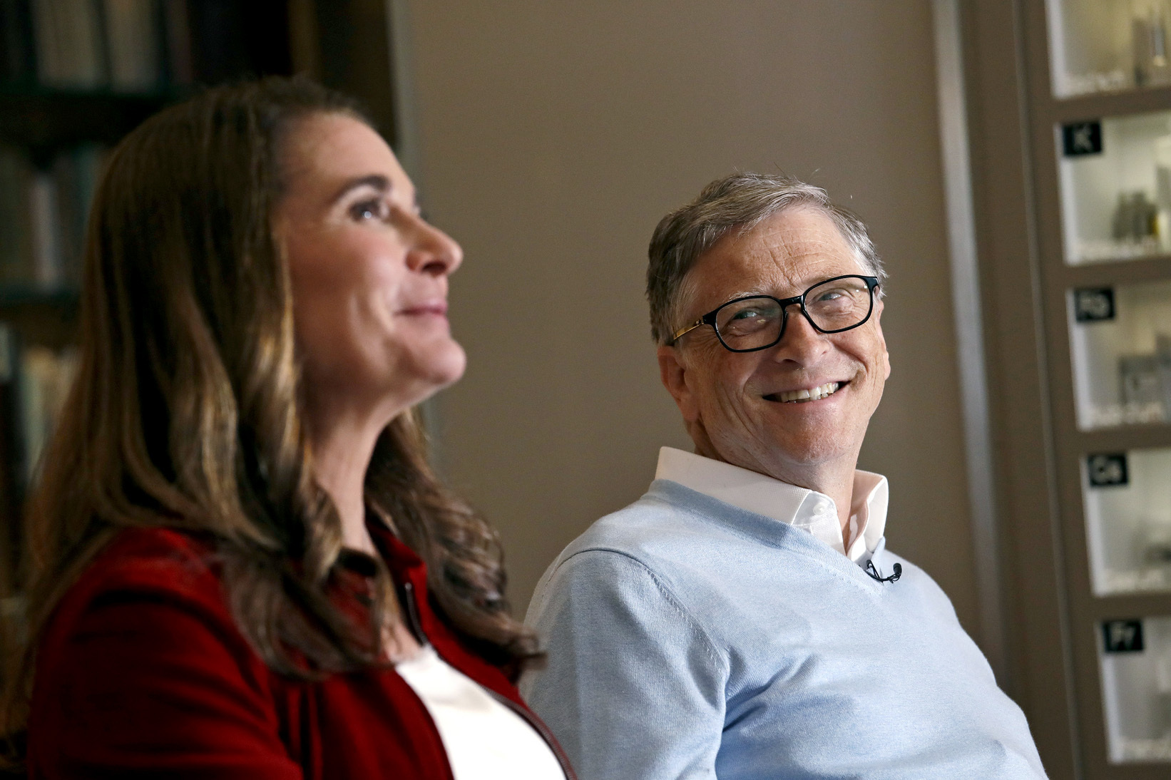 Melinda and Bill Gates are interviewed in Kirkland, Wash. The couple announced Monday, May 3, 2021, that they are divorcing.