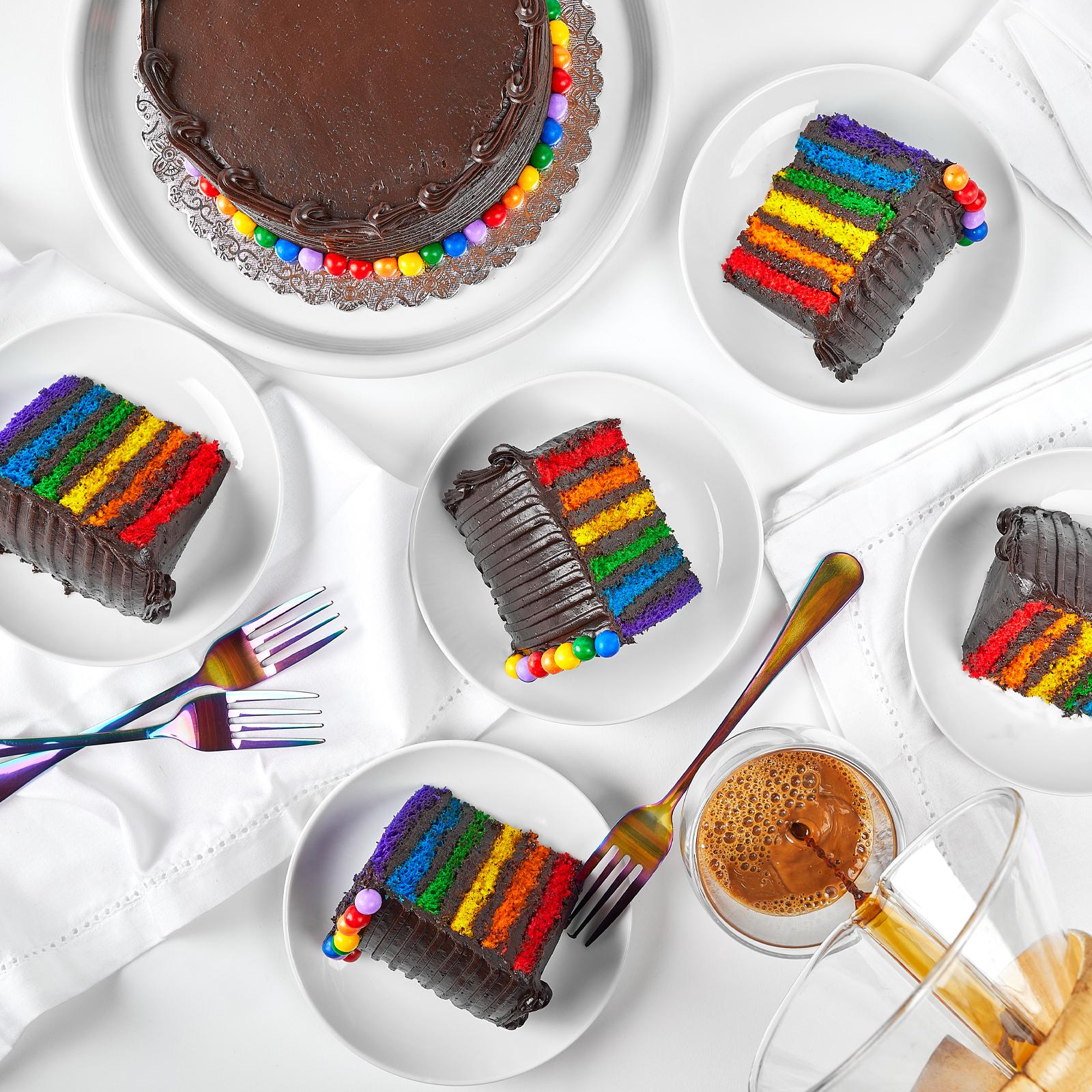 诺伊谷面包店的巧克力彩虹蛋糕