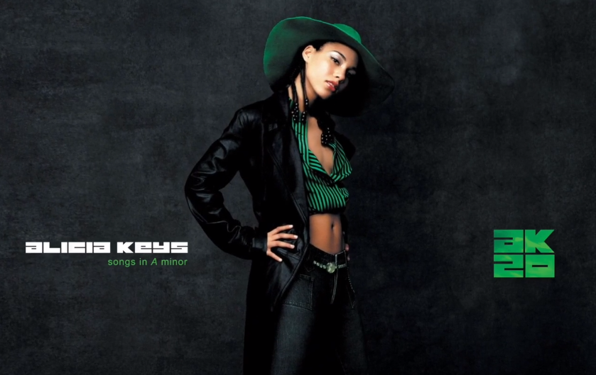 Alicia Keys' 'Song In A Minor (20th Anniversary Edition)' artwork