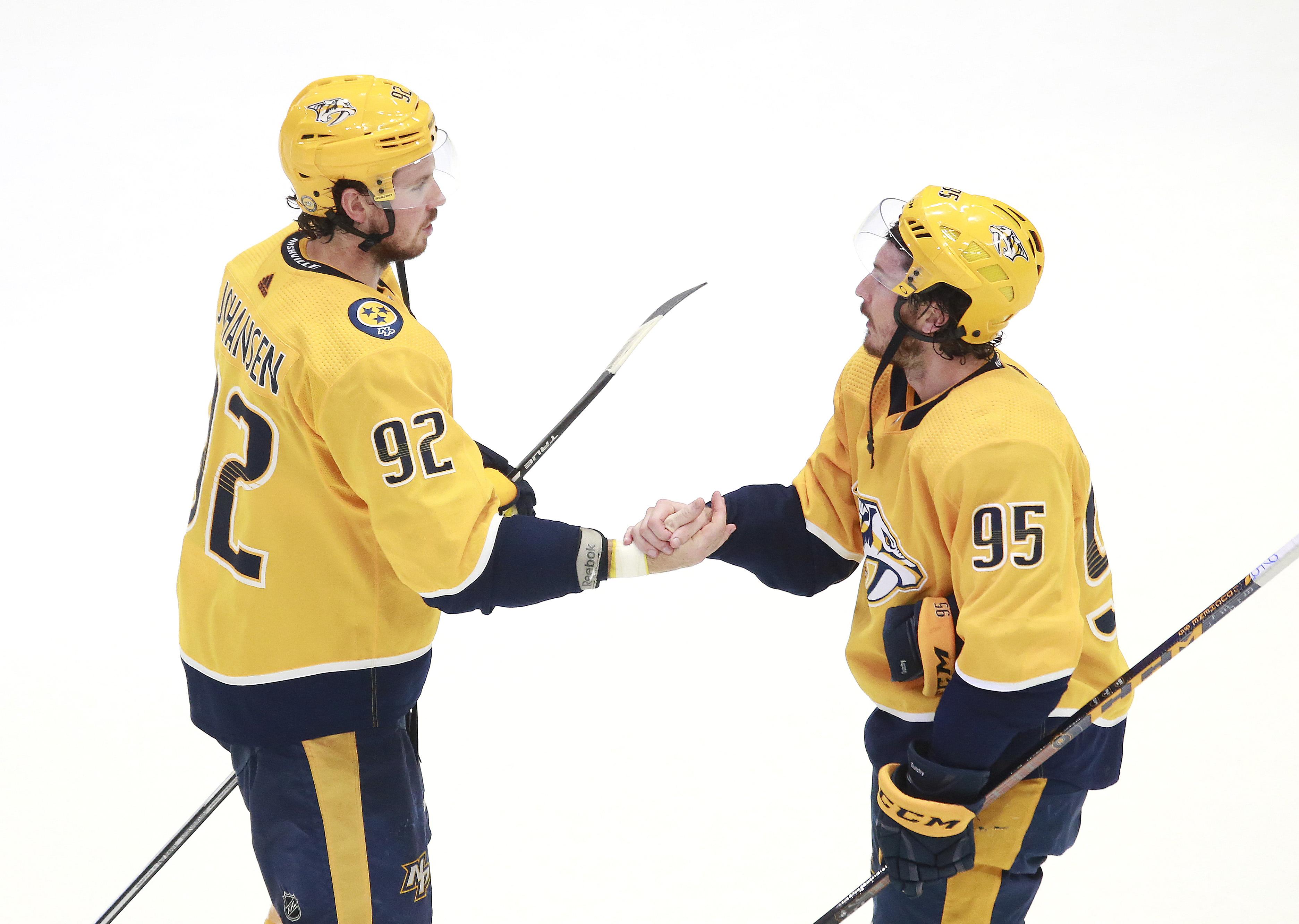 NHL: Western Conference Qualifications-Arizona Coyotes vs Nashville Predators
