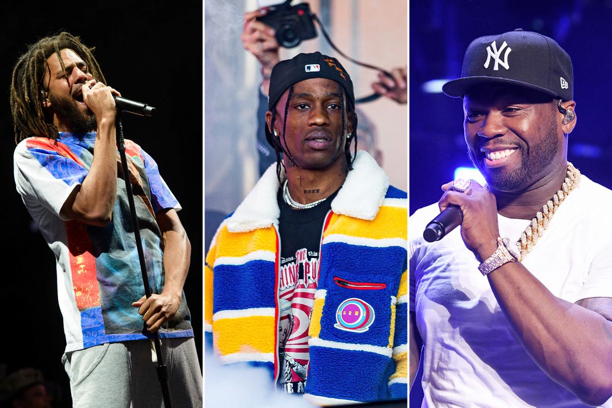 J. Cole, Travis Scott, 50 Cent