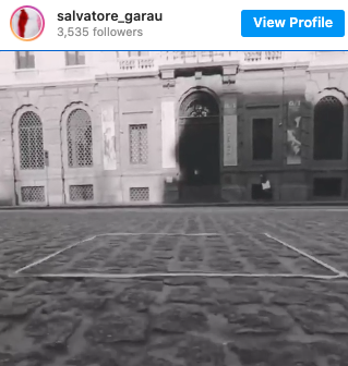 Salvatore Garau's Instagram post about the invisible art.