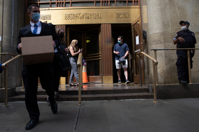The Manhattan District Attorney's office in lower Manhattan, June 4, 2021.