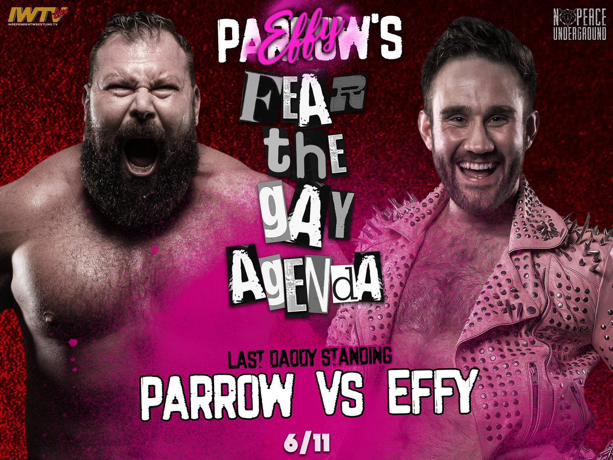 Match graphic for EFFY vs. Parrow at NPU Fear the Gay Agenda