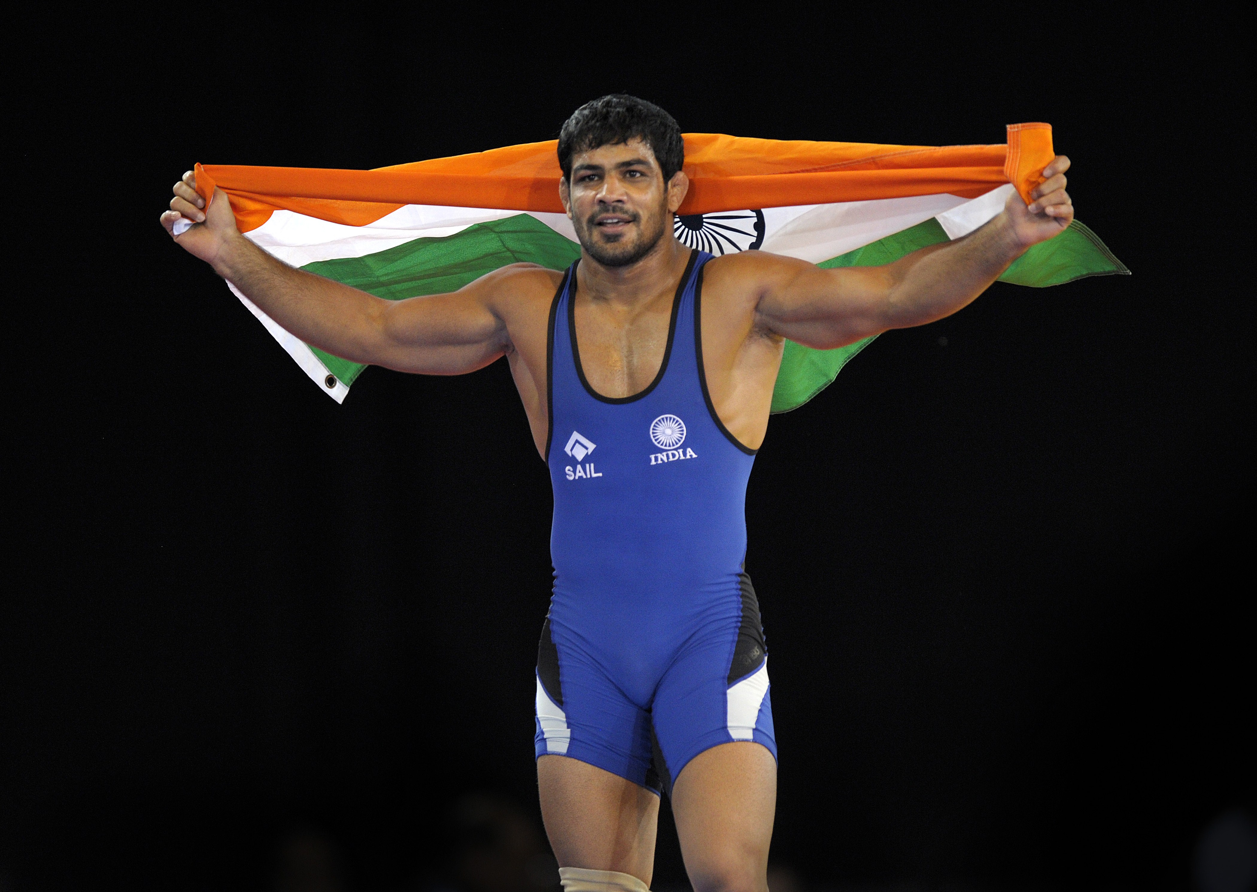 Sushil Kumar at the Commonweath Games in Glasgow in 2014.