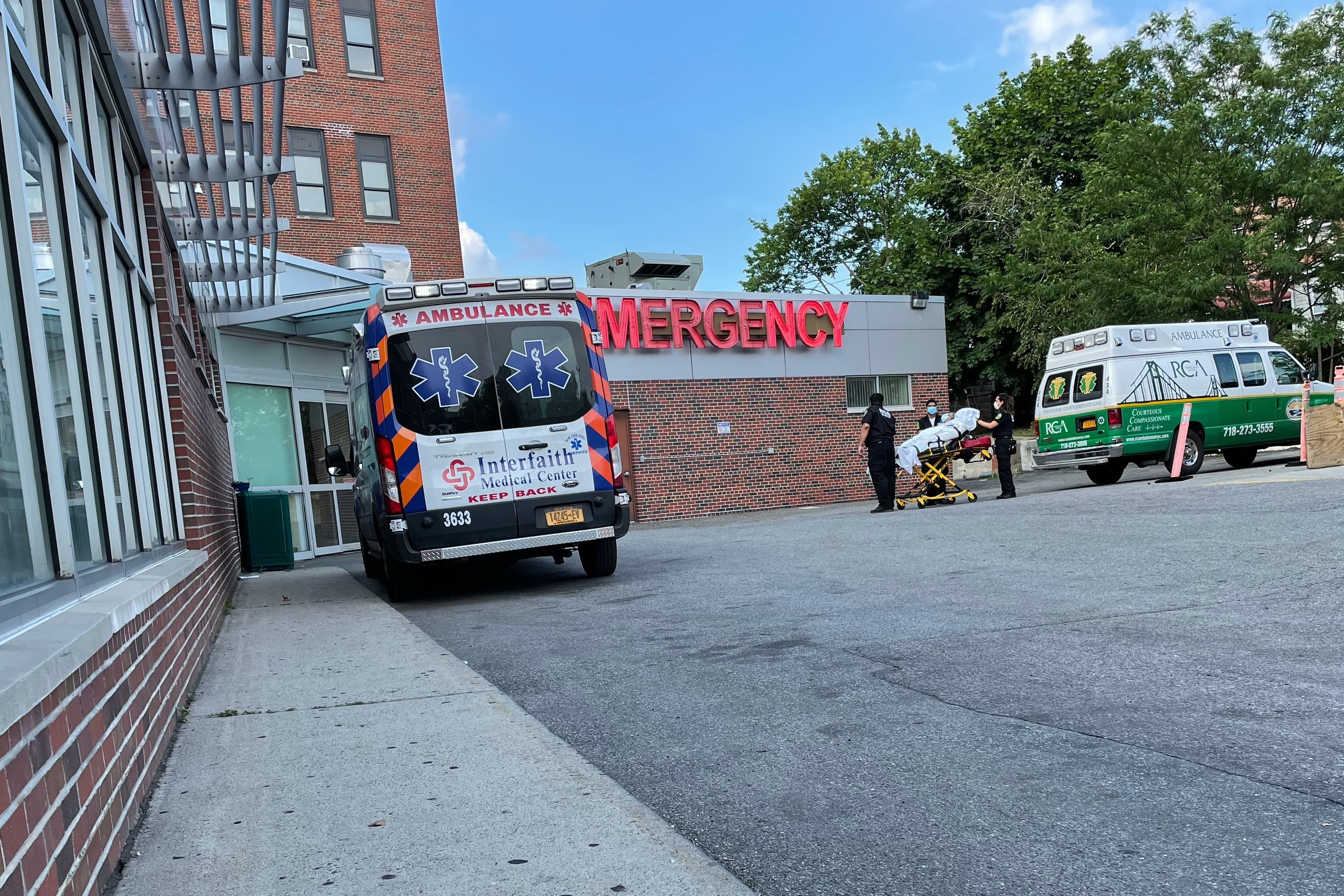 The ER at Kingsbrook Jewish Medical Center is not admitting patients to stay overnight ahead of the hospital's closing.