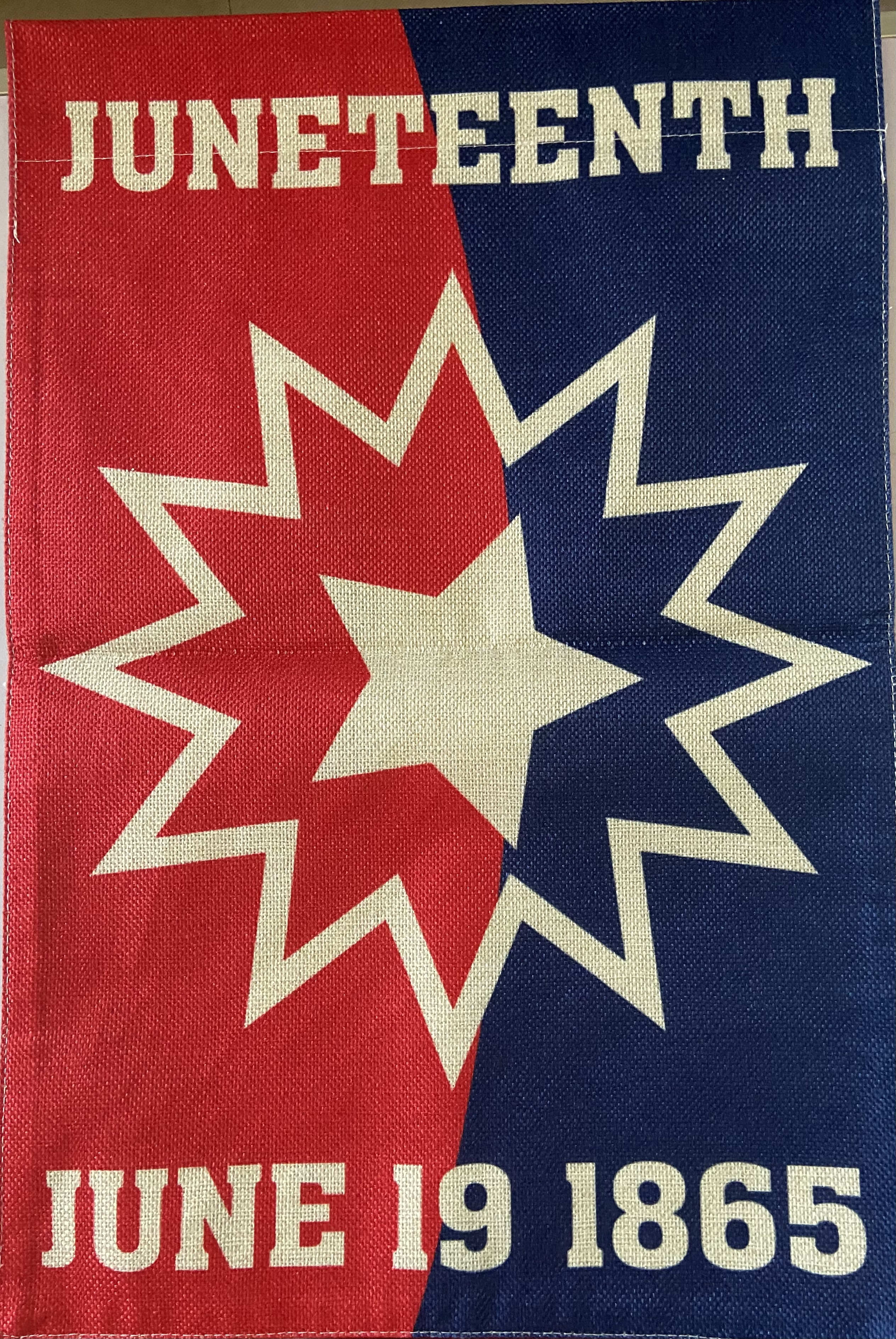 The Juneteenth Flag signals the true day of liberation for the remaining enslaved African ancestors who were notified of their freedom in Galveston, Texas.