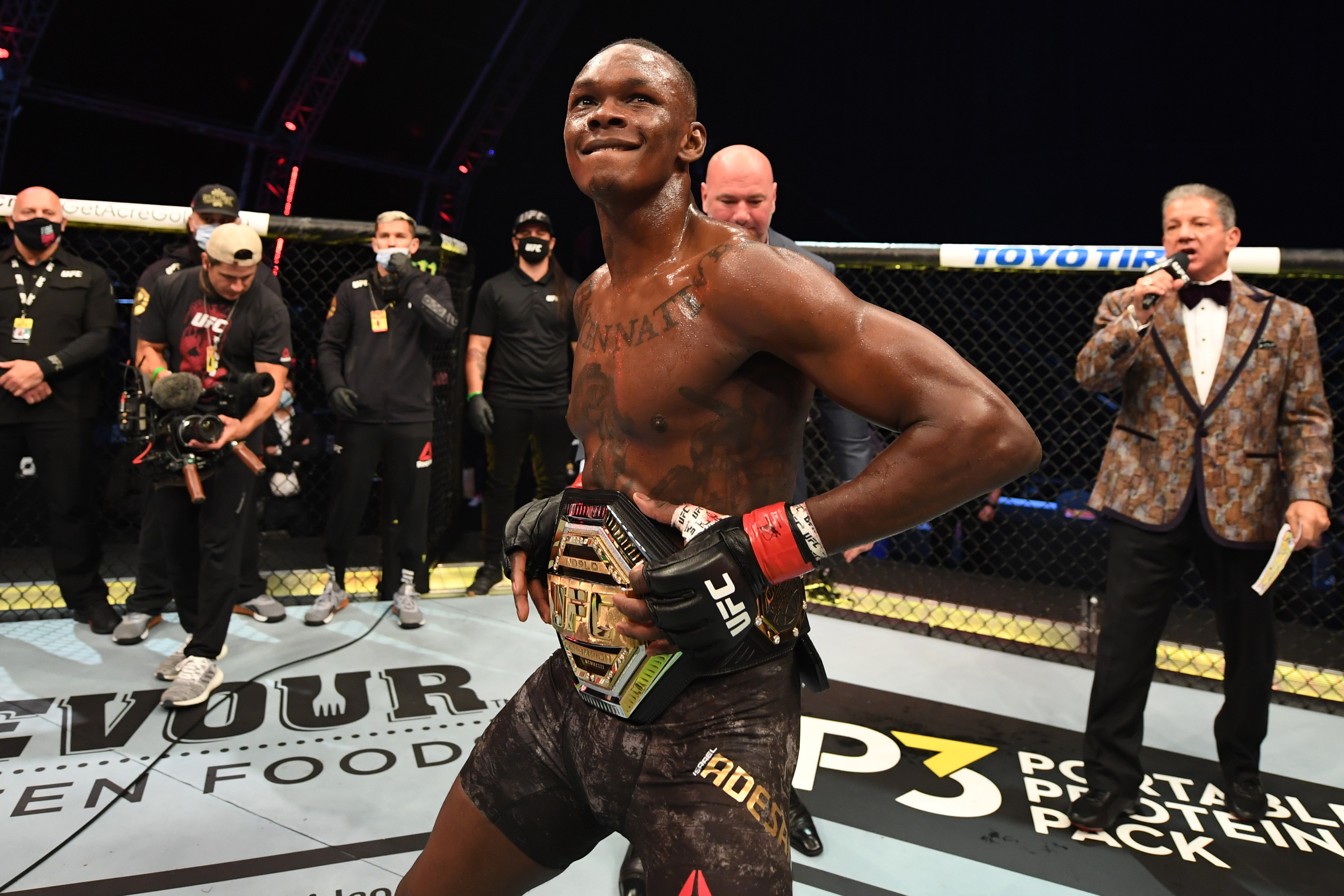 Israel Adesanya is favored over Marvin Vettori at UFC 263
