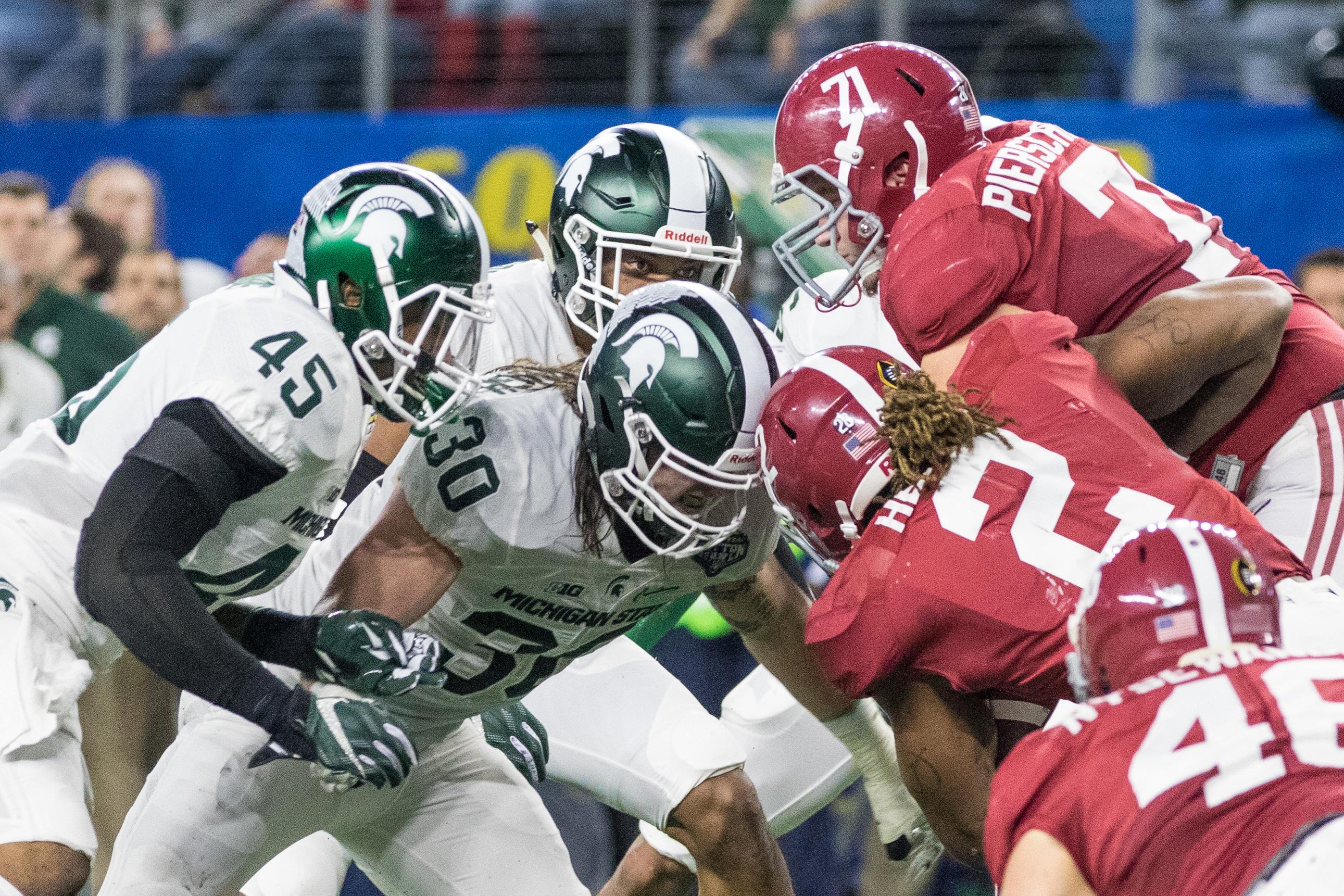 NCAA FOOTBALL: DEC 31 College Football Playoff Semifinal - Cotton Bowl- Michigan State v Alabama