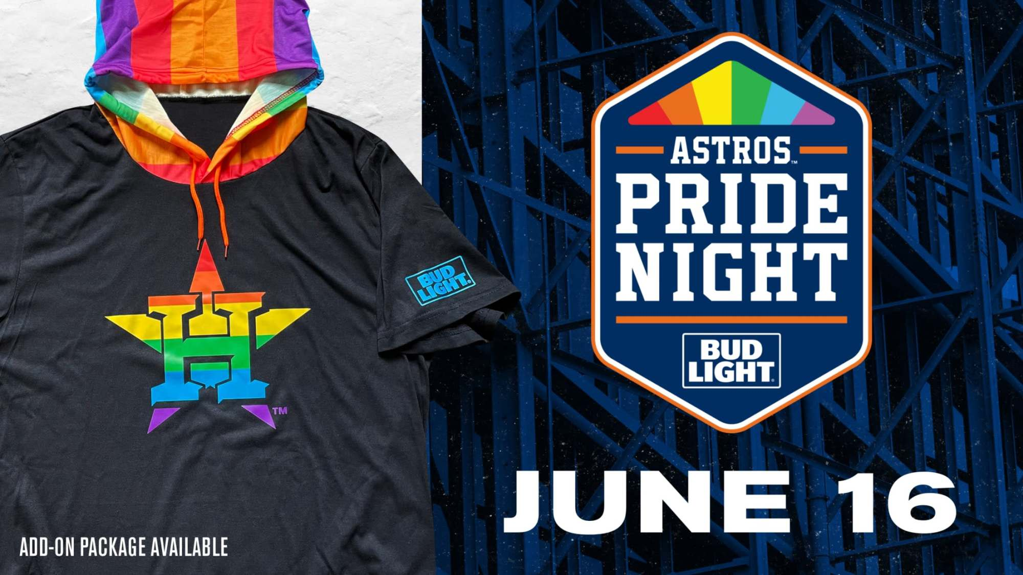 The Houston Astros will give away a rainbow hoodie for their Pride night.