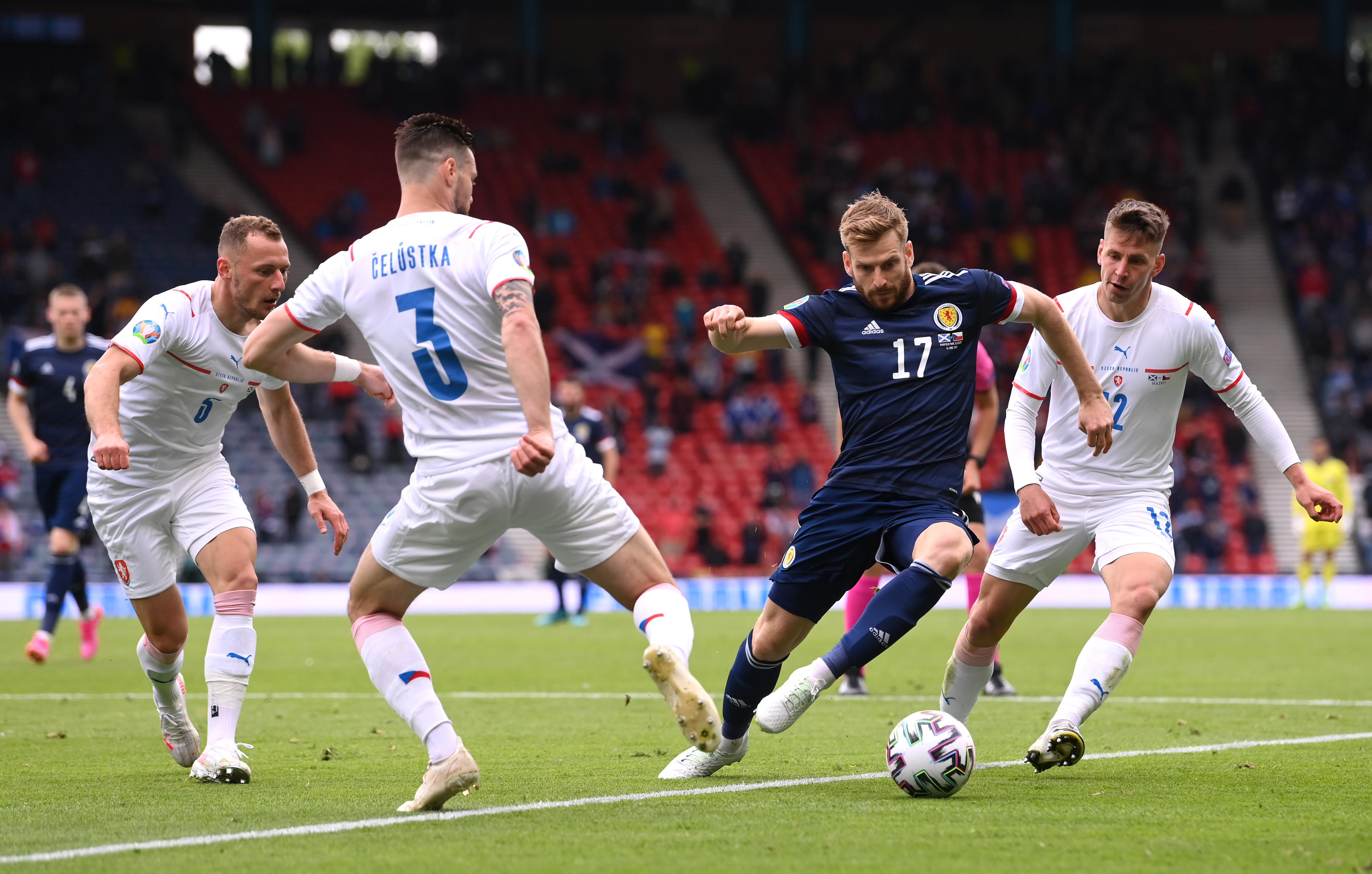 Southampton, international, EURO 2020, Scotland, Denmark, Poland, Stuart Armstrong, Che Adams, Jan Bednarek, Jannik Vestergaard