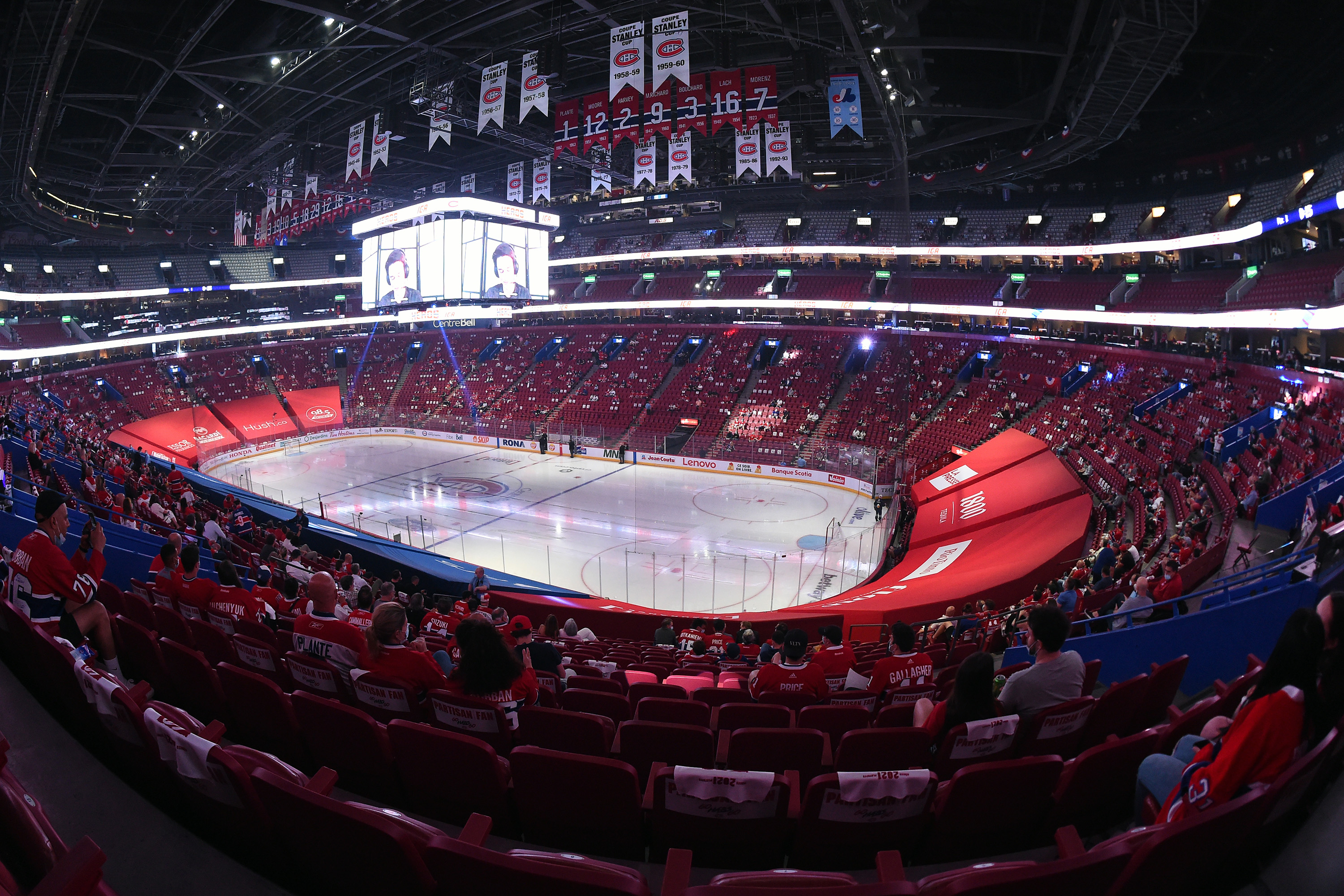 General view of the Bell Center in Game Four of the Second Round of the 2021 Stanley Cup Playof between the Montreal Canadiens and the Winnipeg Jets on June 7, 2021 in Montreal, Quebec, Canada.