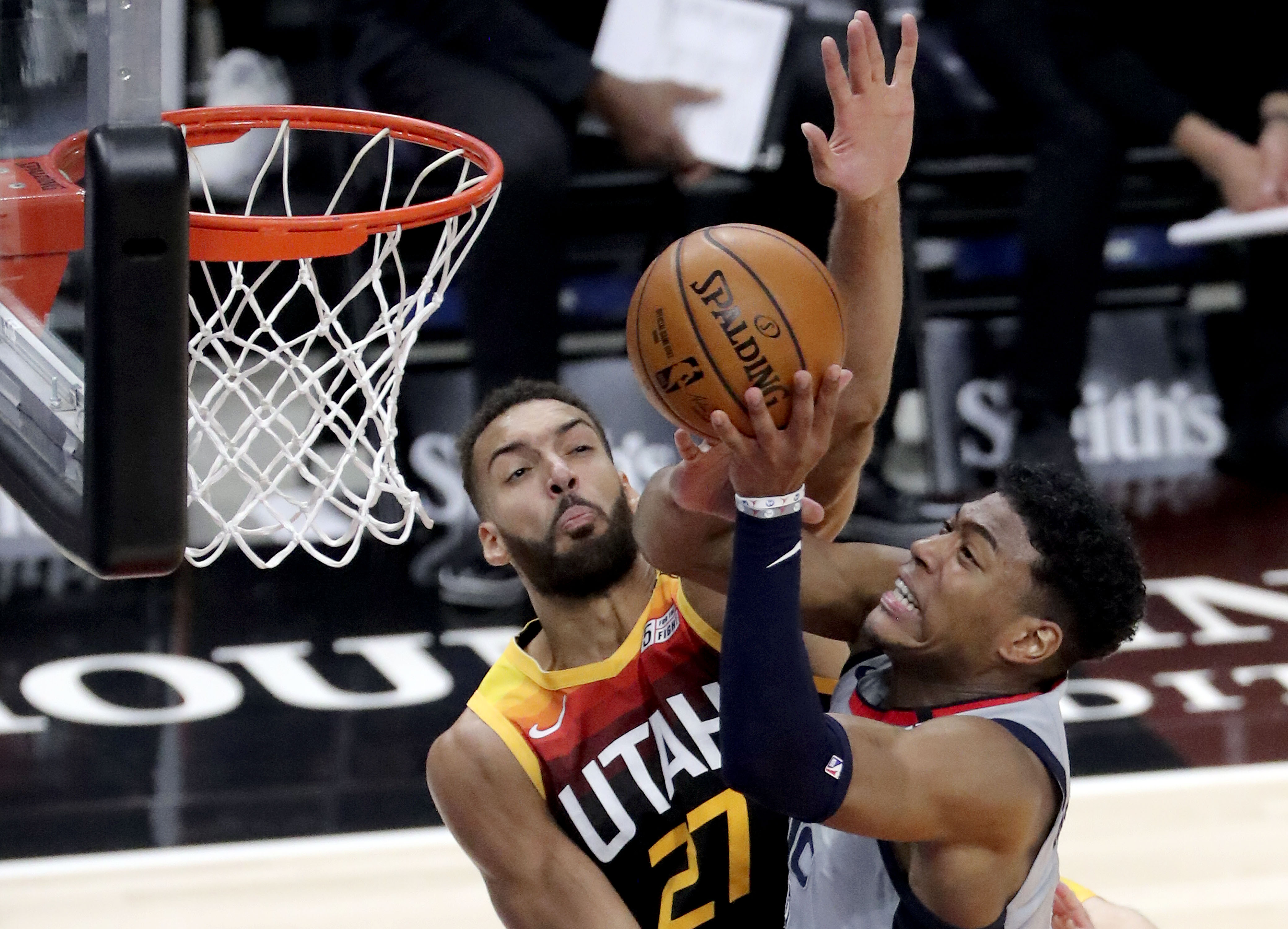 Utah Jazz center Rudy Gobert was named to the NBA All-Defensive team.