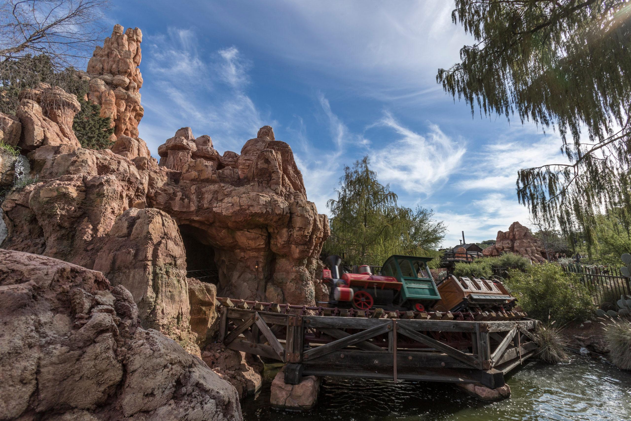 Big Thunder Mountain Railroad in Frontierland at Disneyland Park in Anaheim, Calif.