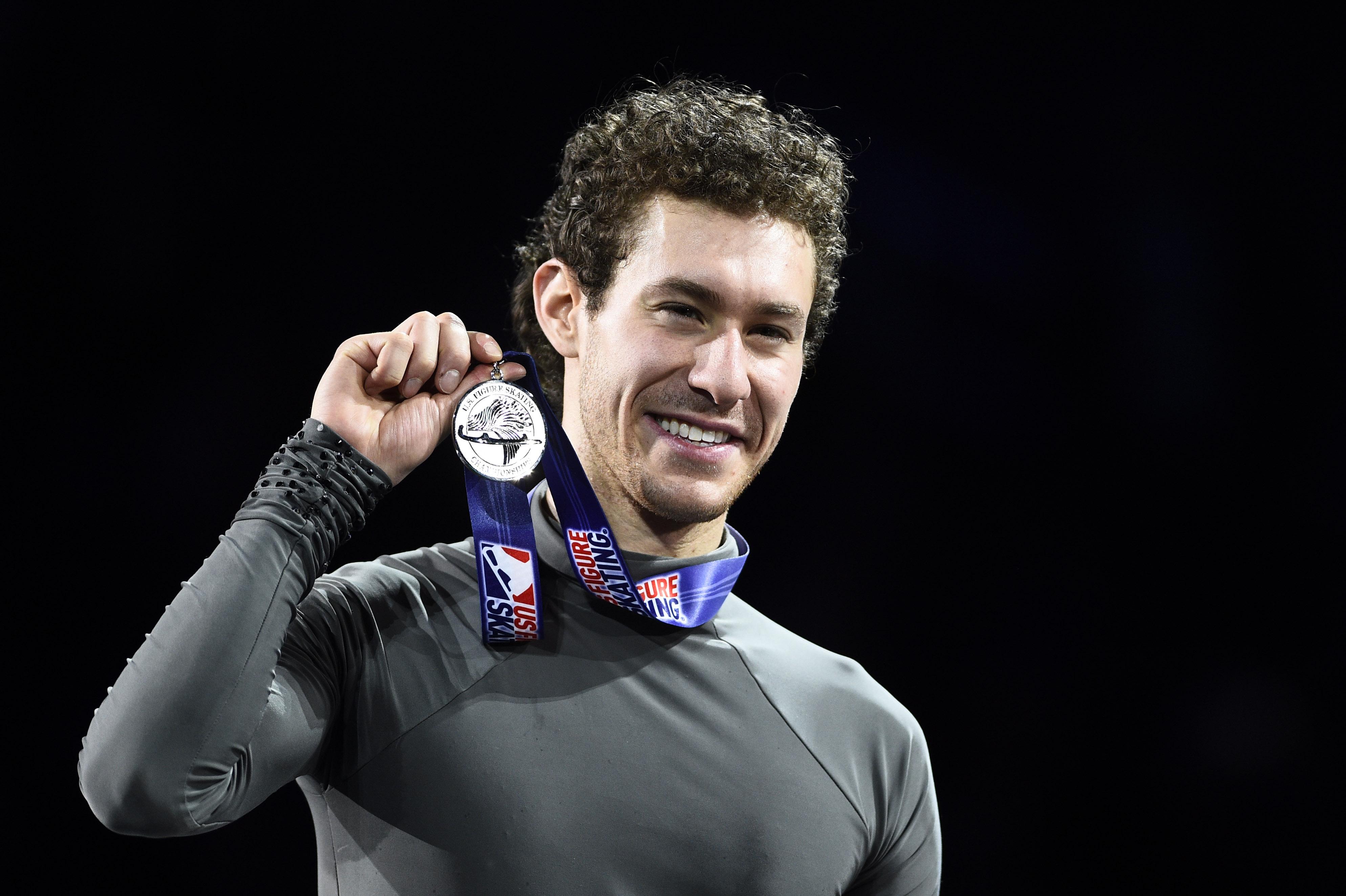 Jason Brown won the silver medal at the 2020 U.S. Nationals in North Carolina.