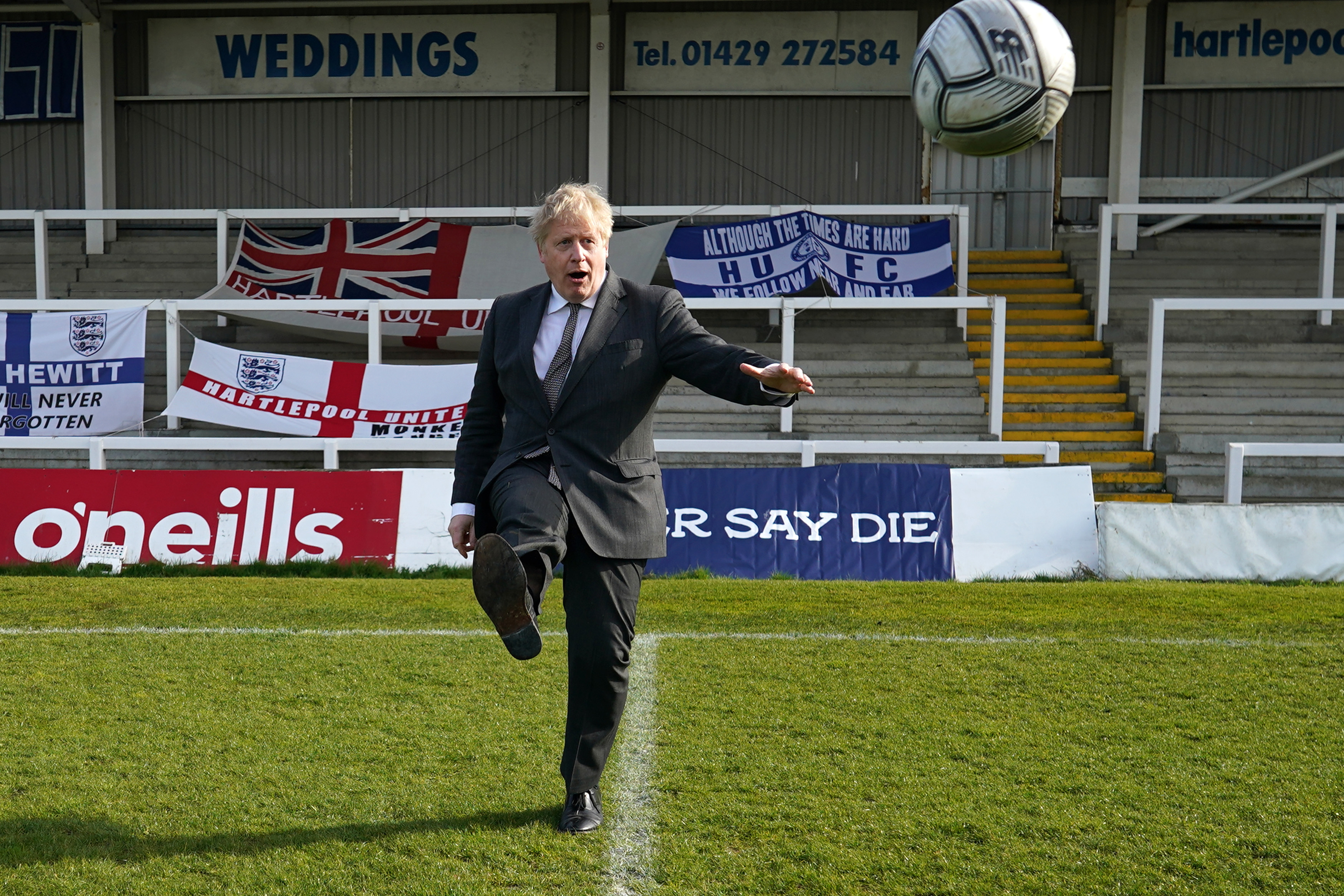 Boris Johnson在哈特利Pool By-election竞选活动