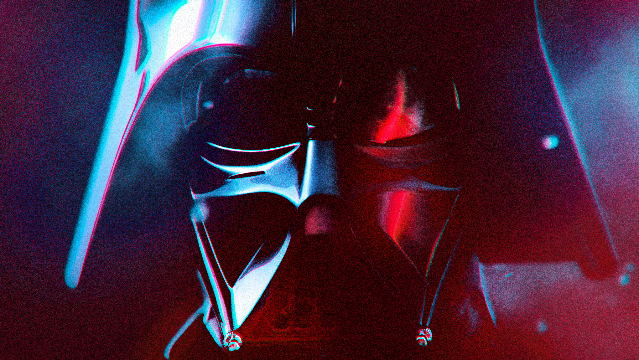 photo illustration of Darth Vader in close-up