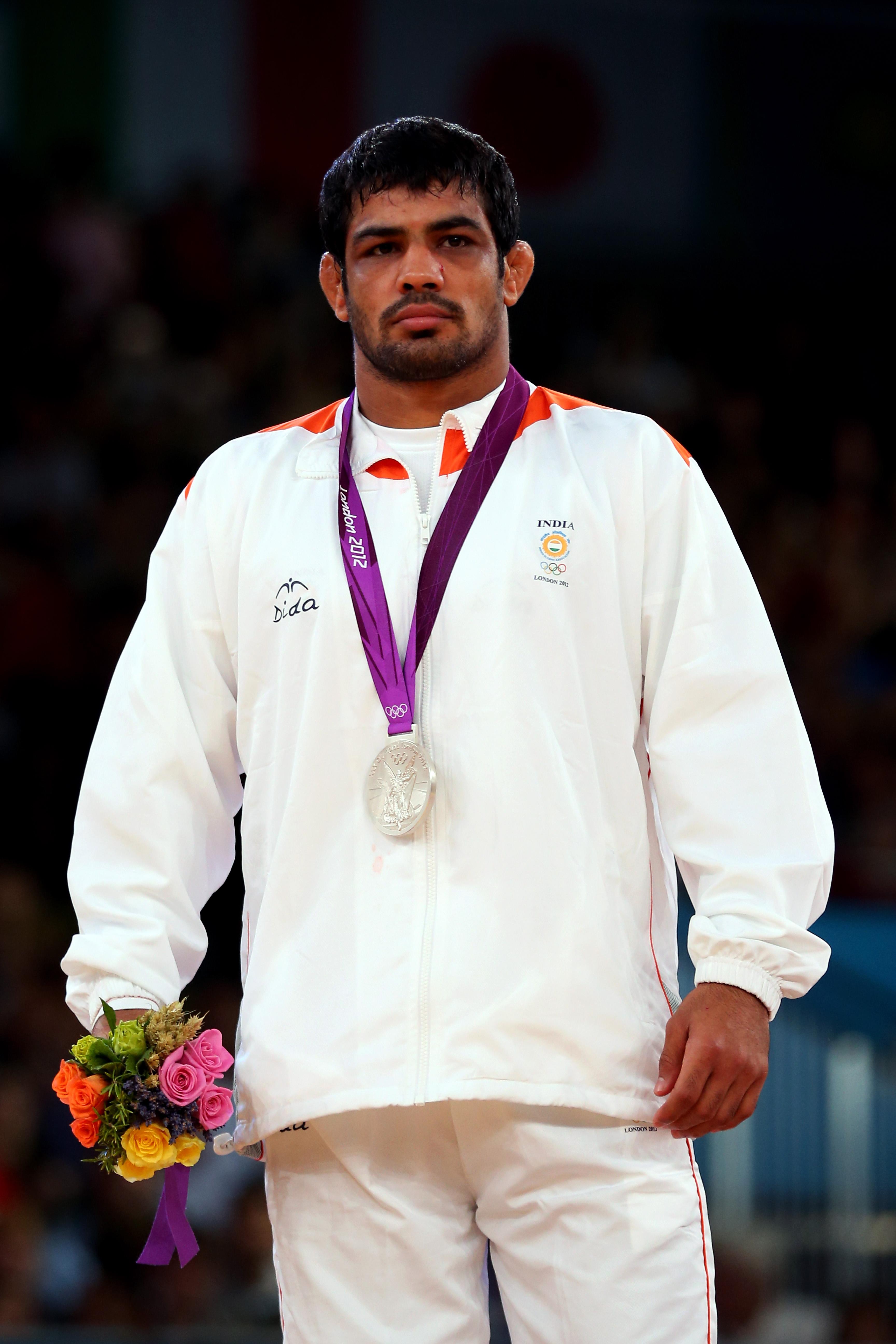 Sushil Kumar, India - Olympics Day 16 - Wrestling