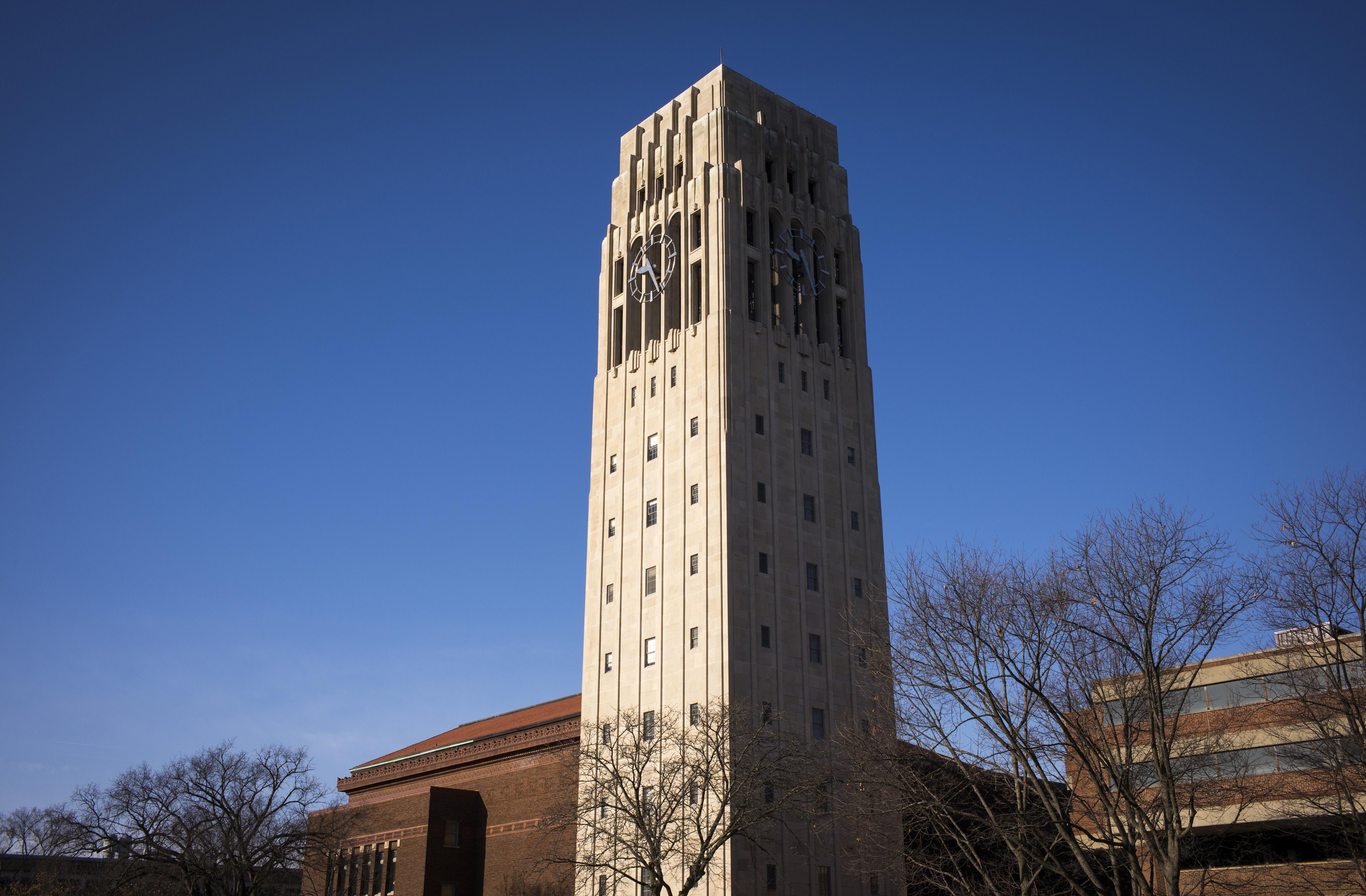 Burton Memorial Tower At The University Of Michigan