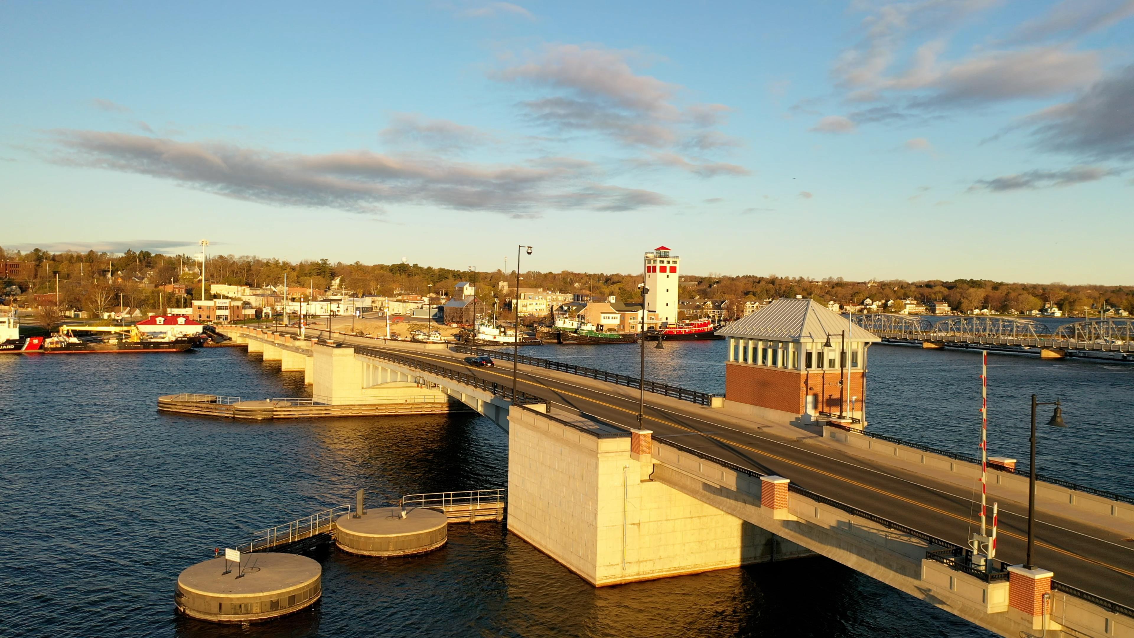 A bridge over water in Door County.