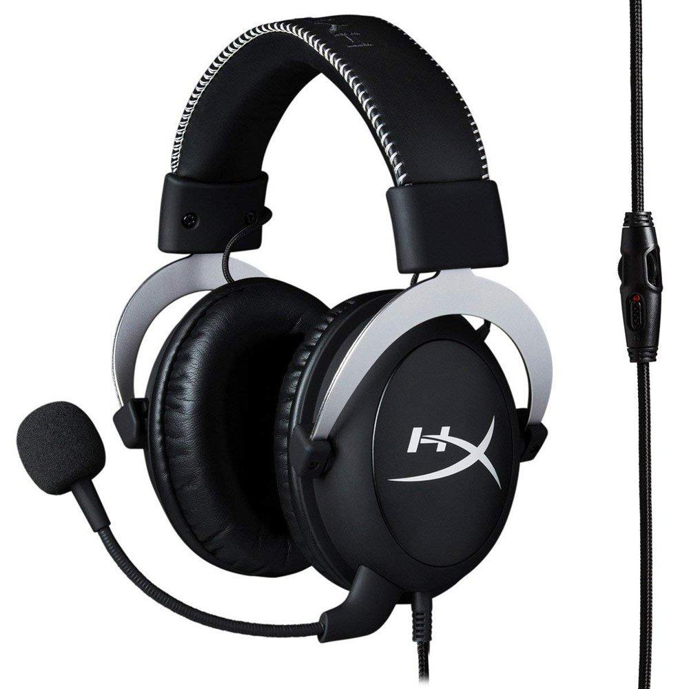 A product shot of the HyperX CloudX headset