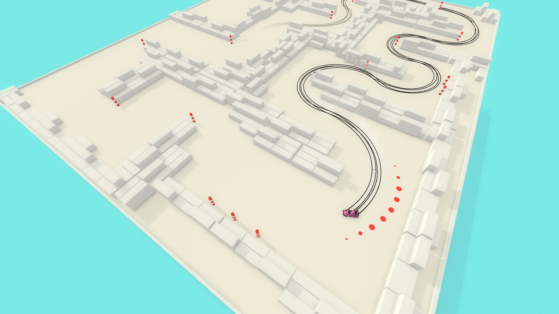 overhead view of drifting action in Absolute Drift by Funselektor