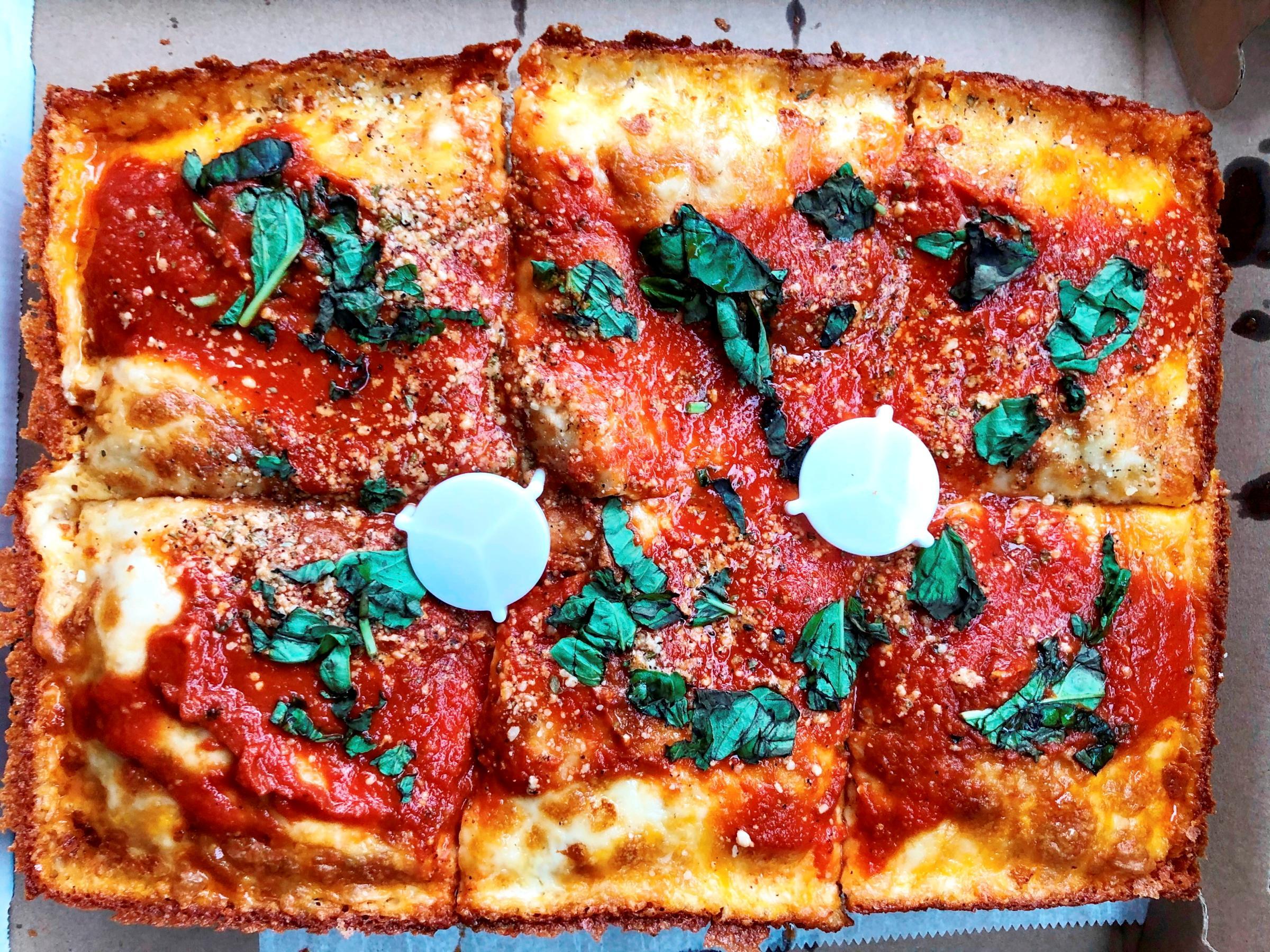 A Detroit-style Pizza Pie