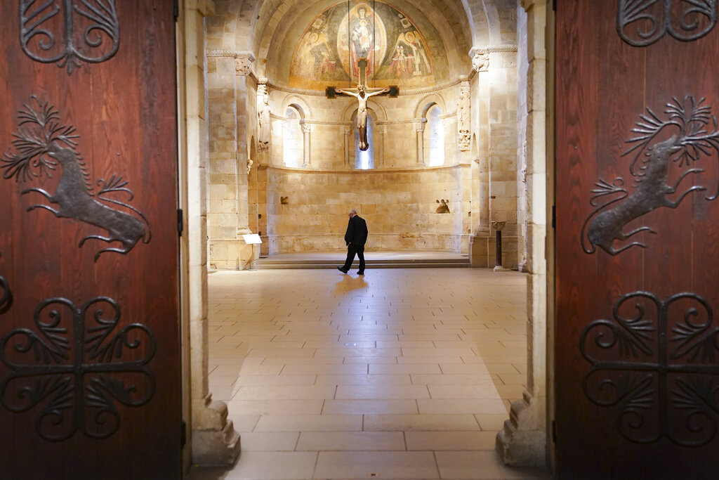 The halls of The Met Cloisters, a branch of the Metropolitan Museum of Art dedicated to medieval European art.