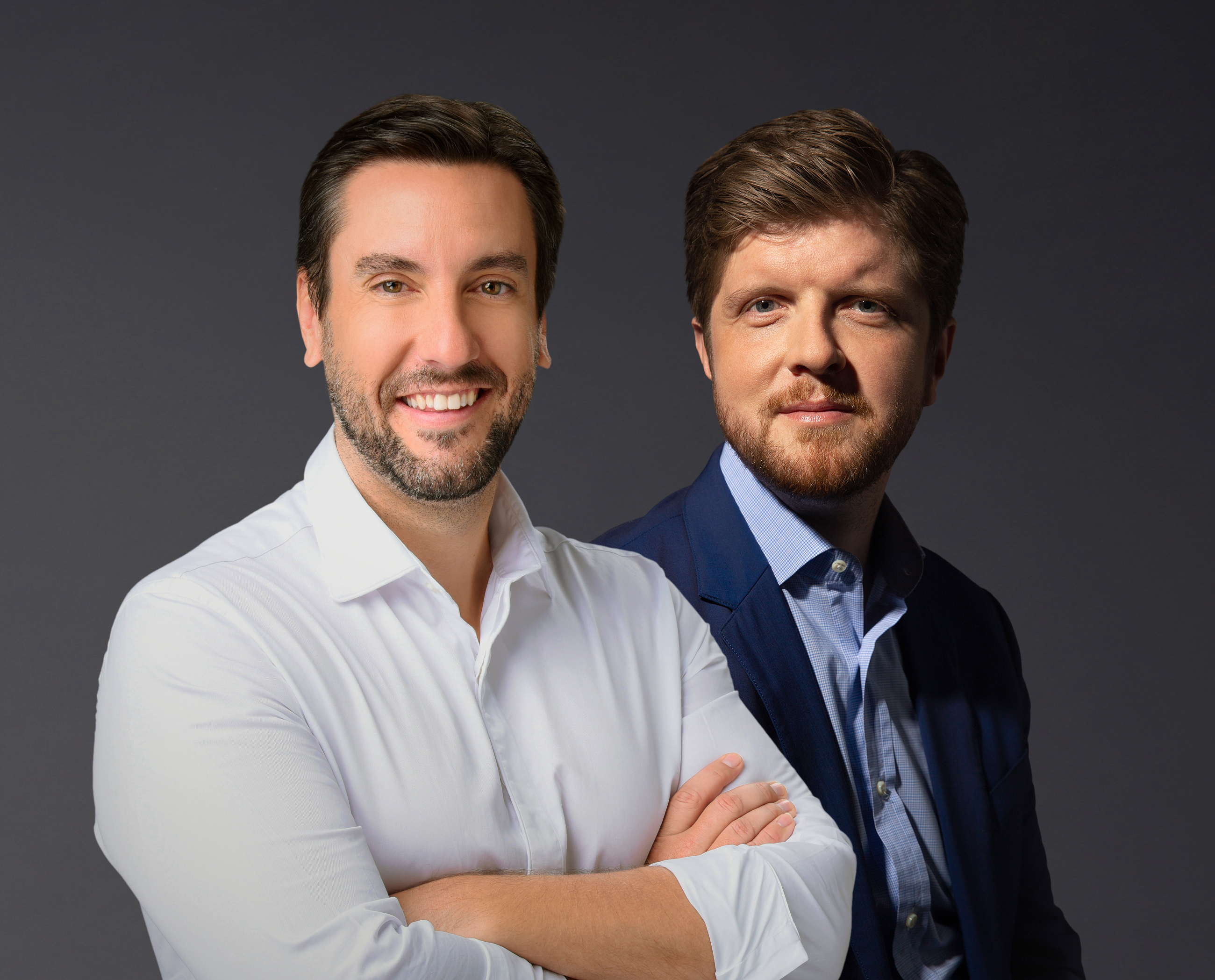 Clay Travis, left, and Buck Sexton were named by Premiere Networks to fill the talk-radio time slot left vacant when Rush Limbaugh died in February 2021.